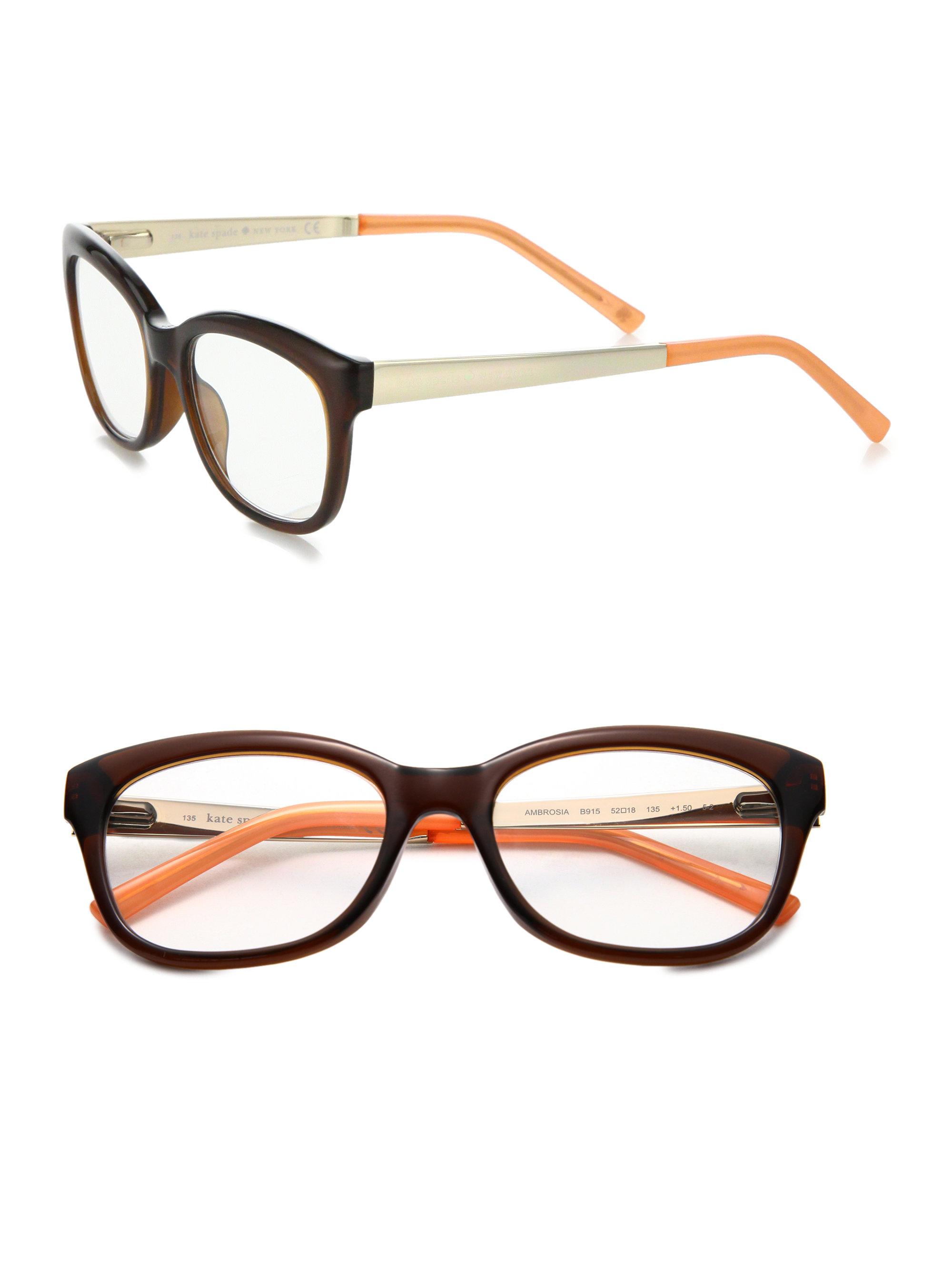Kate Spade New York Eyeglass Frames : Kate spade new york Ambrose 52mm Optical Glasses in Brown ...