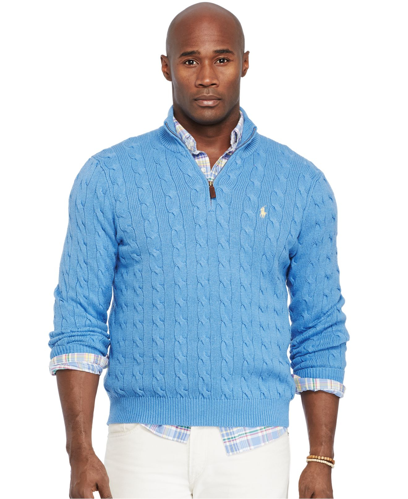 Polo ralph lauren Big And Tall Cable-Knit Tussah Silk Sweater in ...