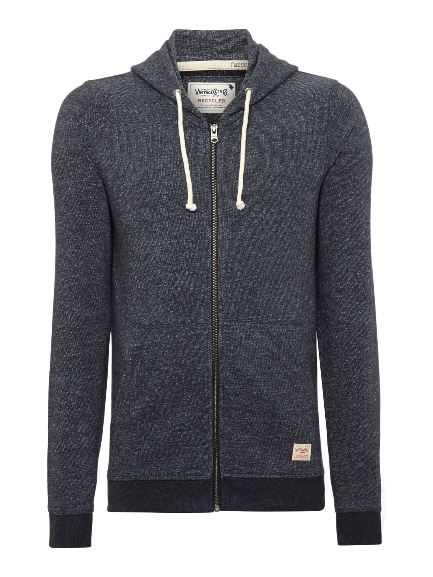 jack jones mens long sleeve hooded sweat in blue for men lyst. Black Bedroom Furniture Sets. Home Design Ideas
