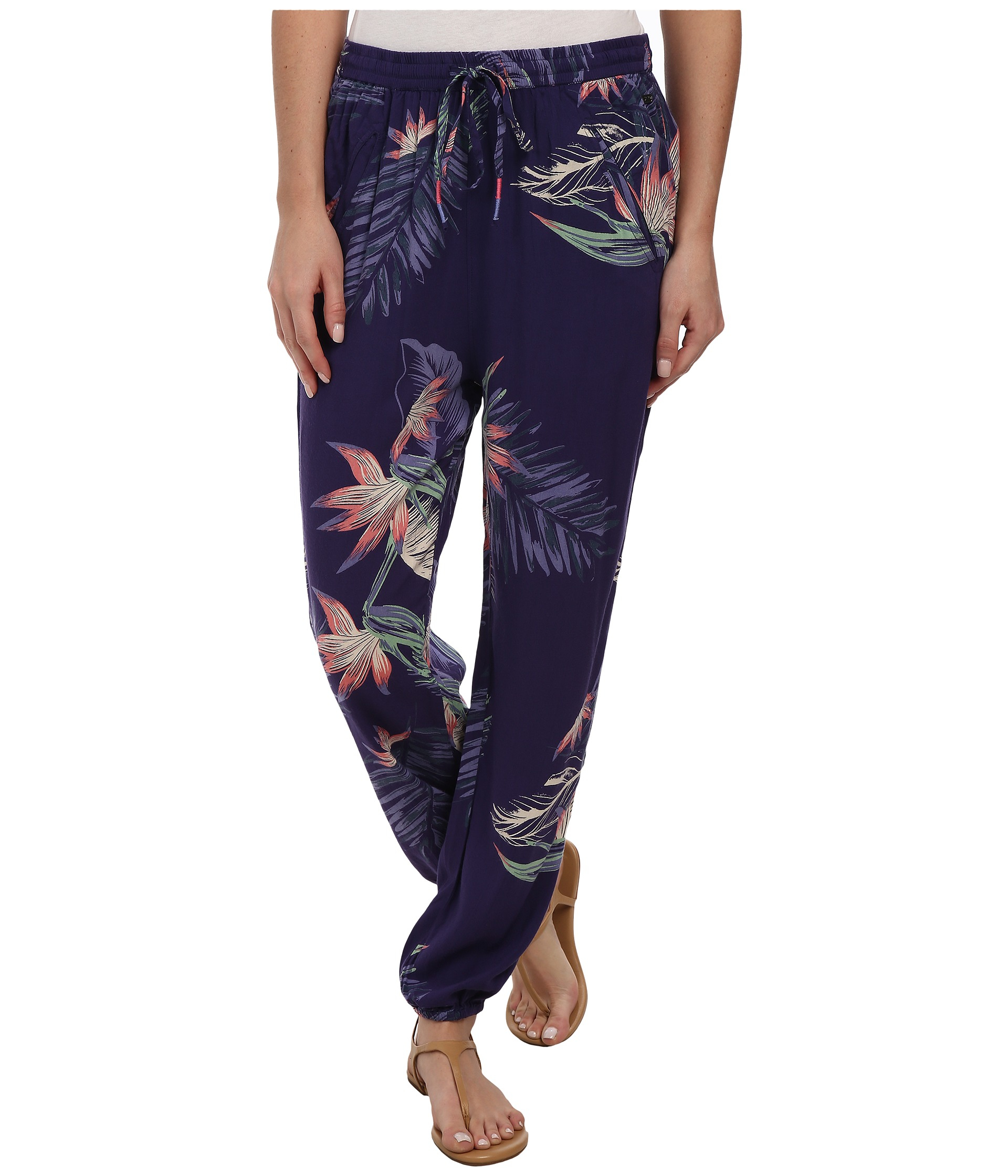roxy sunday noon pant in blue lyst
