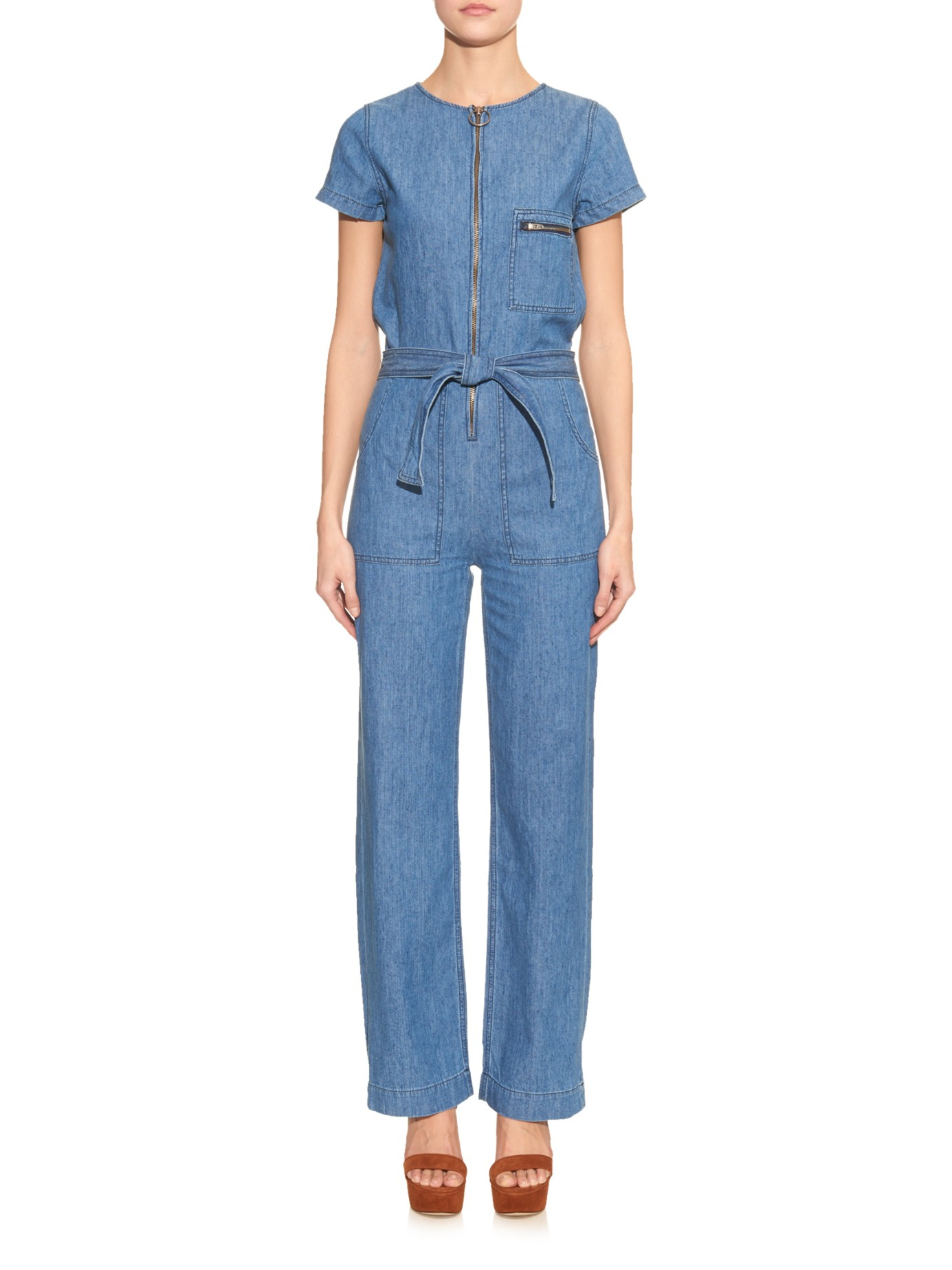 M I H Jeans Saint Denim Jumpsuit In Blue Lyst