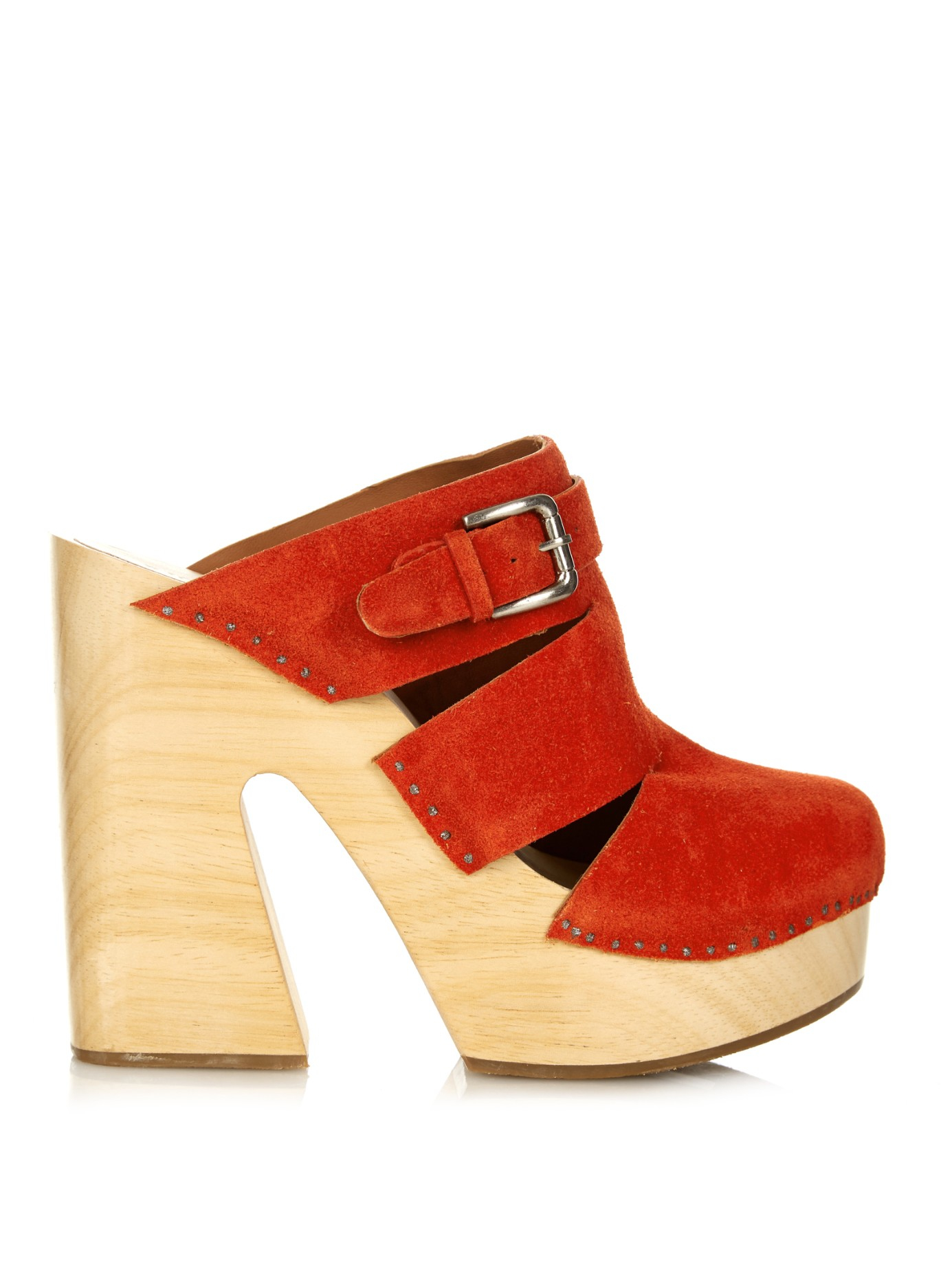 e8ec8bffba06 Lyst - Rachel Comey Fiero Suede Clogs in Orange