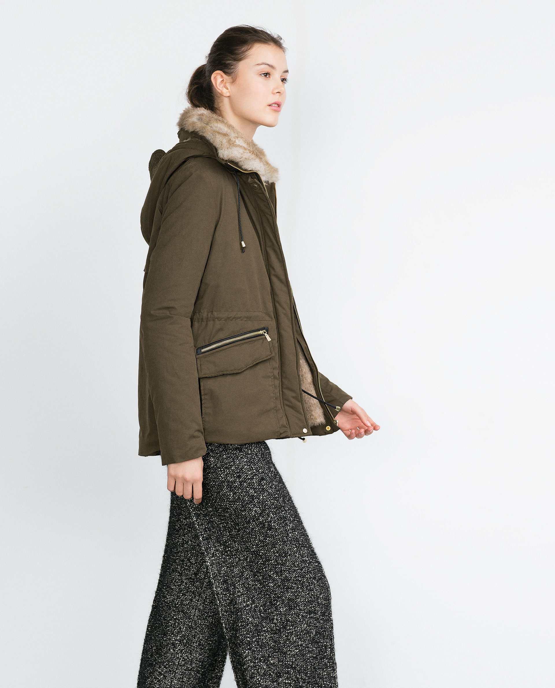 Short Faux Fur Coat Zara - Tradingbasis
