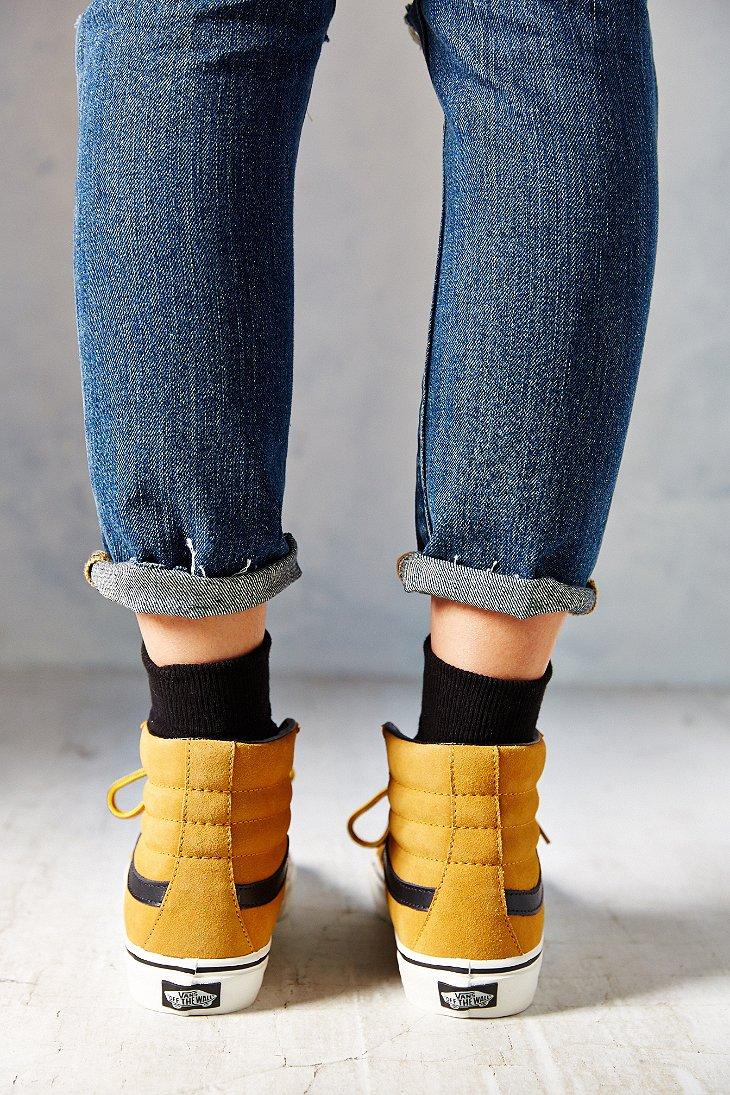 Lyst - Vans Sk8-Hi Slim Hiker Women S Sneaker in Brown 181551c0b786