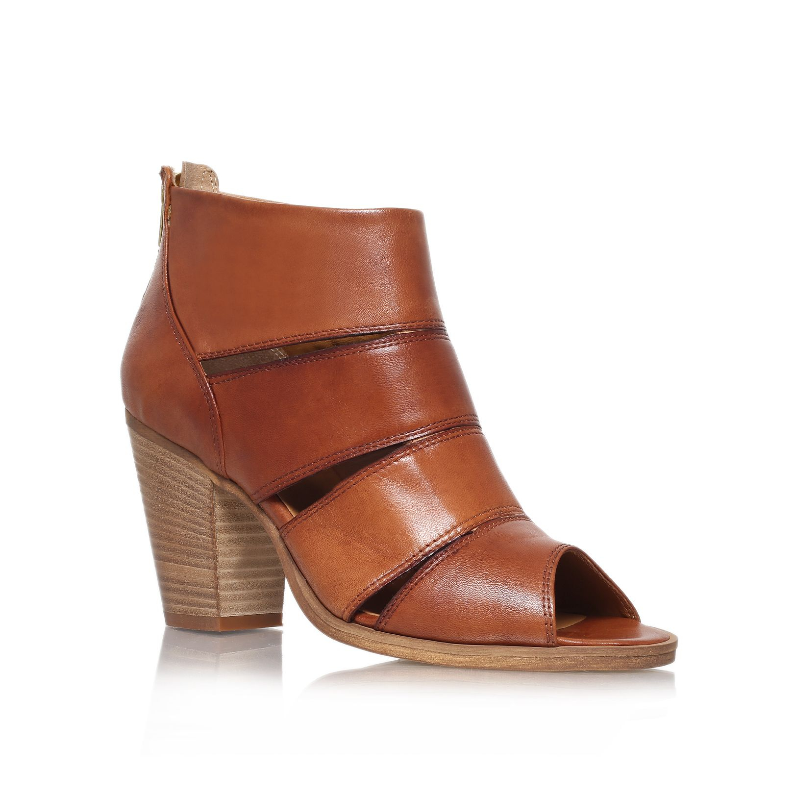 Carvela Kurt Geiger Kiwi High Heel Ankle Boots In Brown (Tan) | Lyst