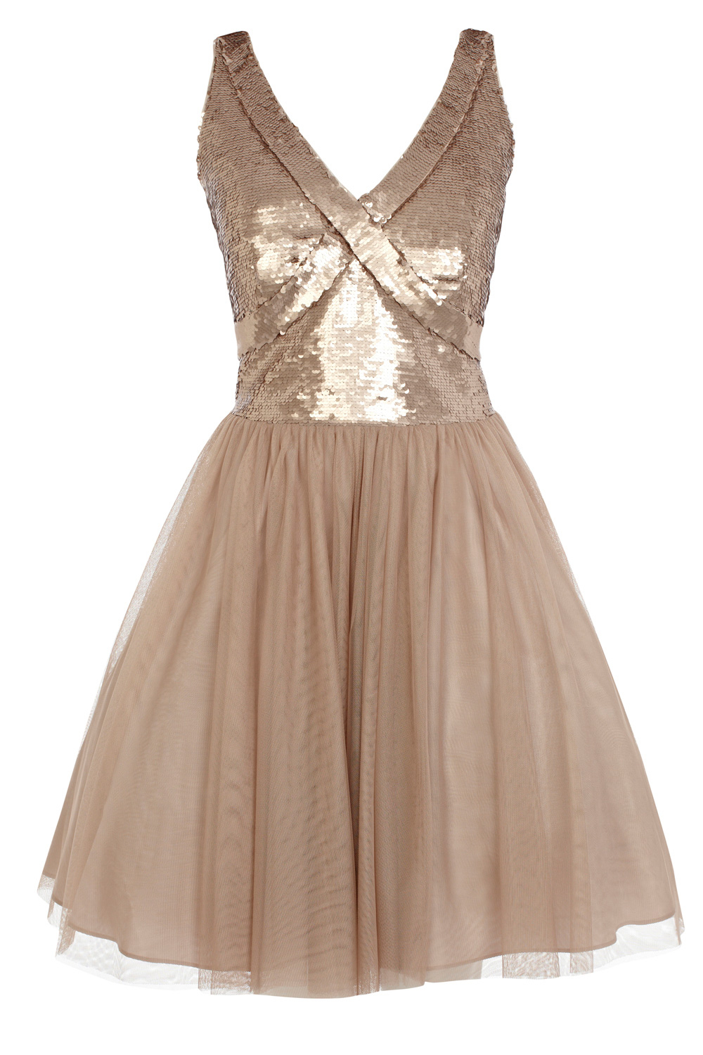 Lyst Coast Paparazzi Sequin Dress In Natural