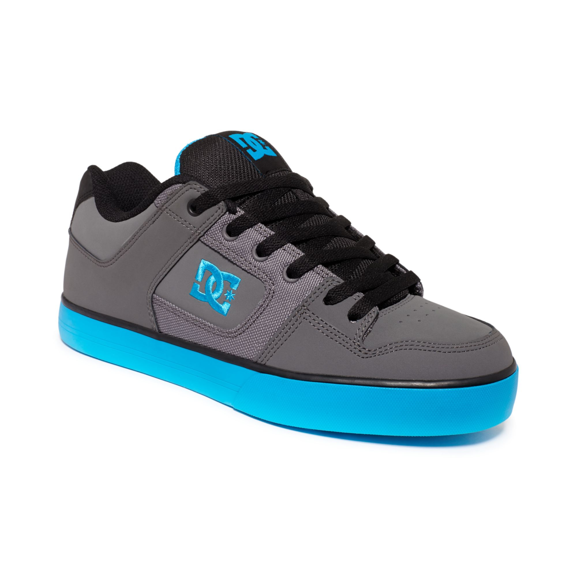 dc shoes pure sneakers in gray for men battleship turquoise lyst. Black Bedroom Furniture Sets. Home Design Ideas