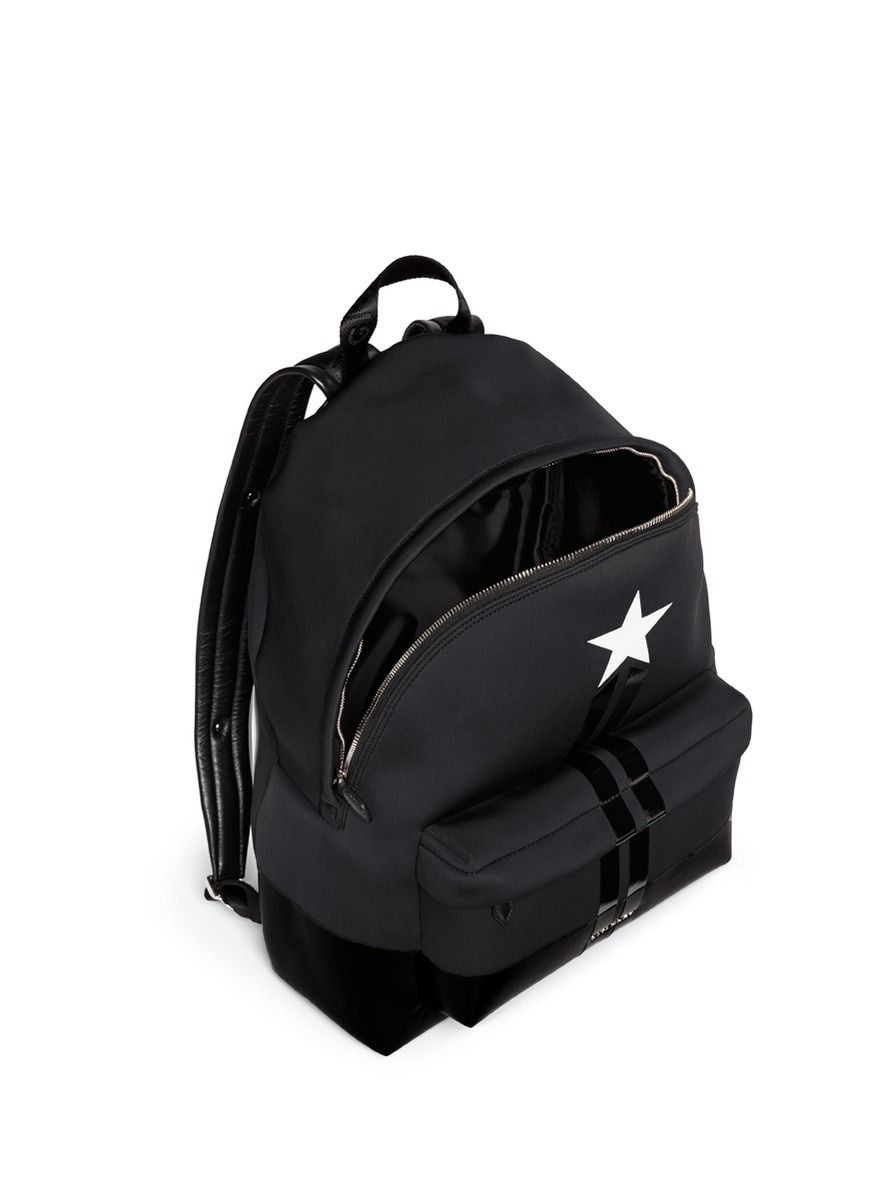Lyst Givenchy Star Leather Neoprene Backpack In Black