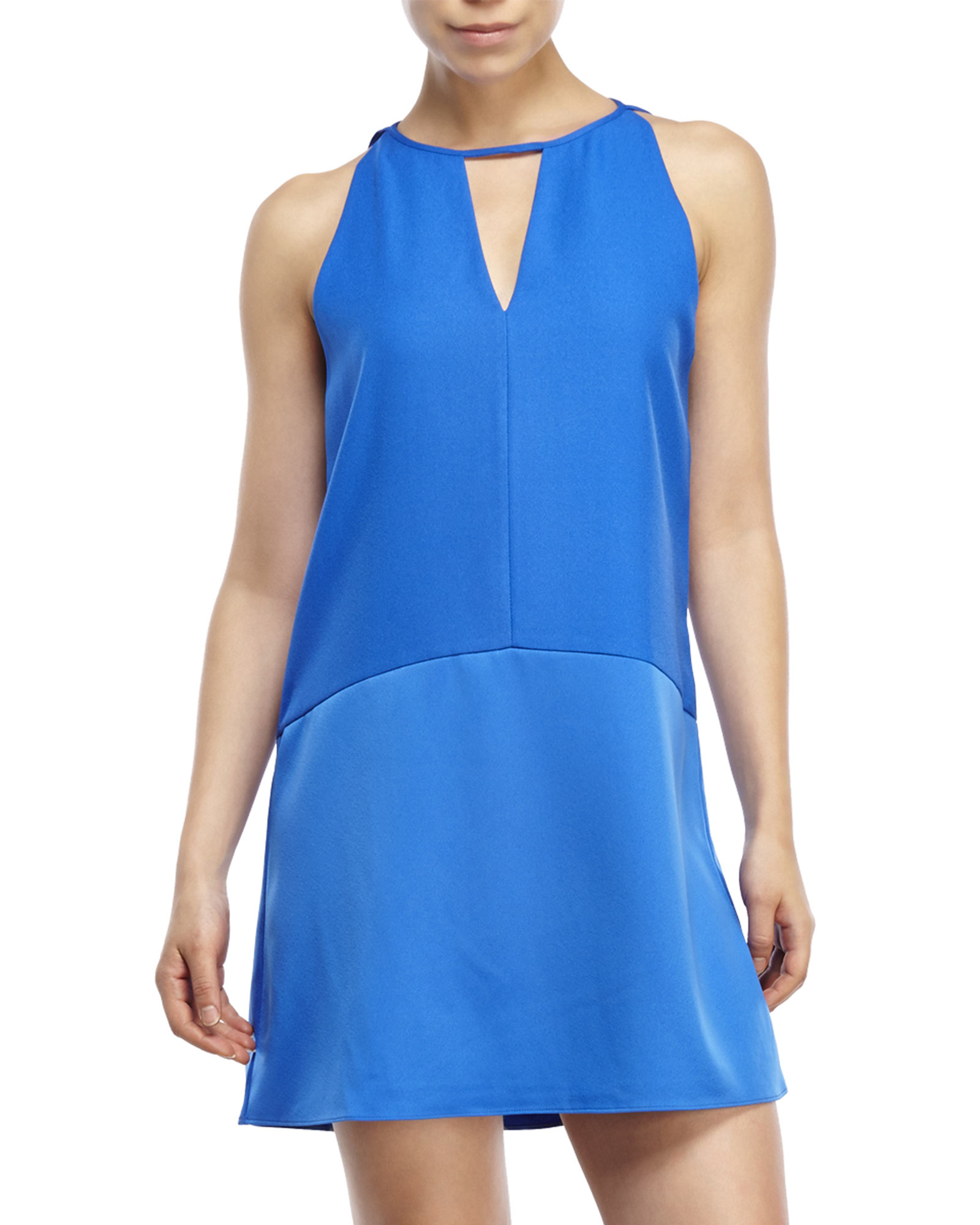 7228bc1ee43 Lyst - Parker Crosby Dress in Blue