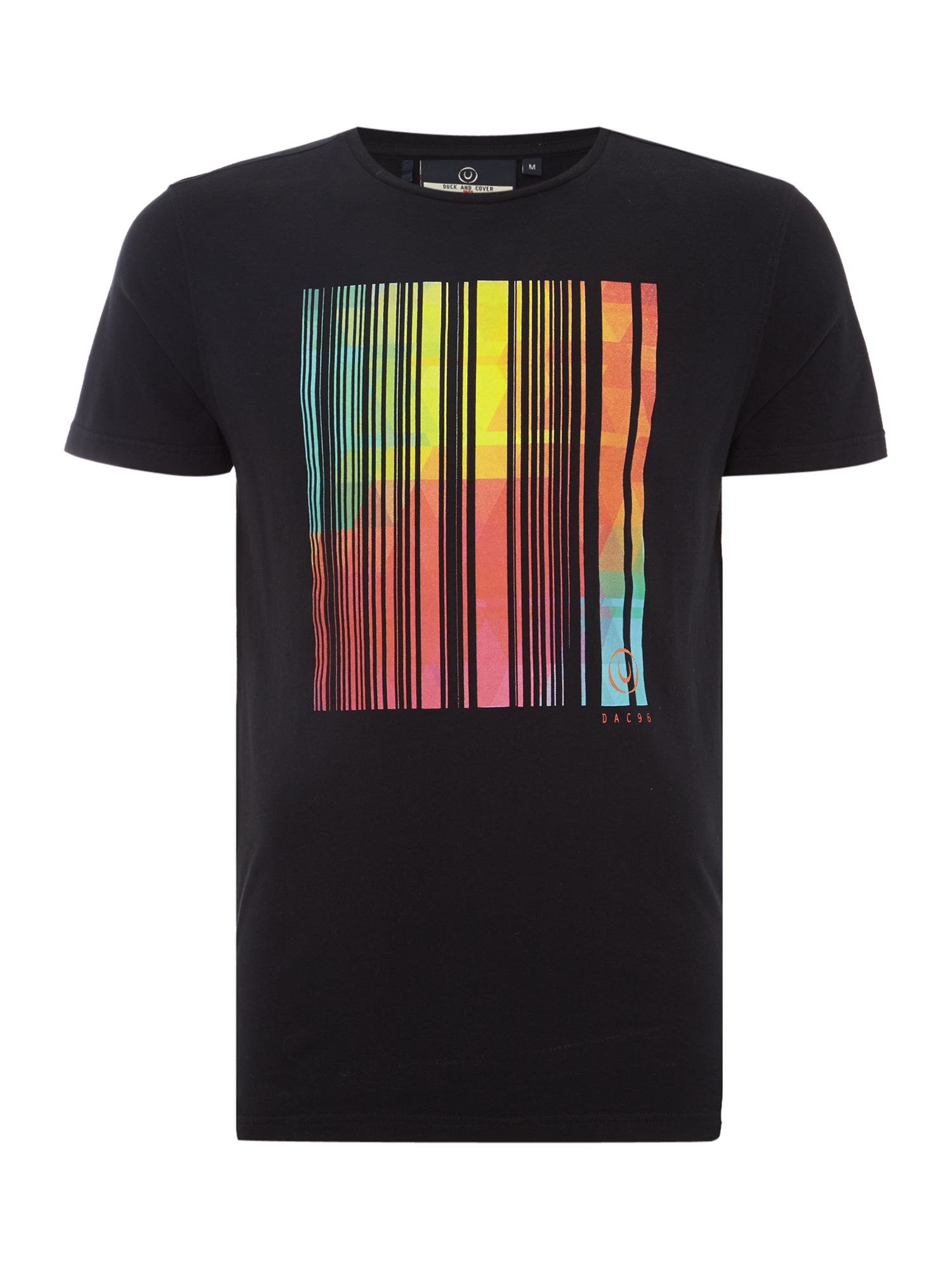 Lyst Duck And Cover Neon T Shirt In Black For Men