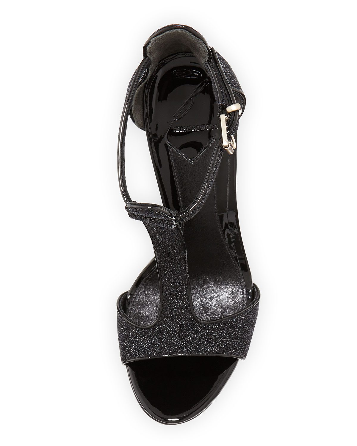 6e12baa968 Lyst - B Brian Atwood Leigha Pebbled Leather T-strap Sandal Black 8 ...