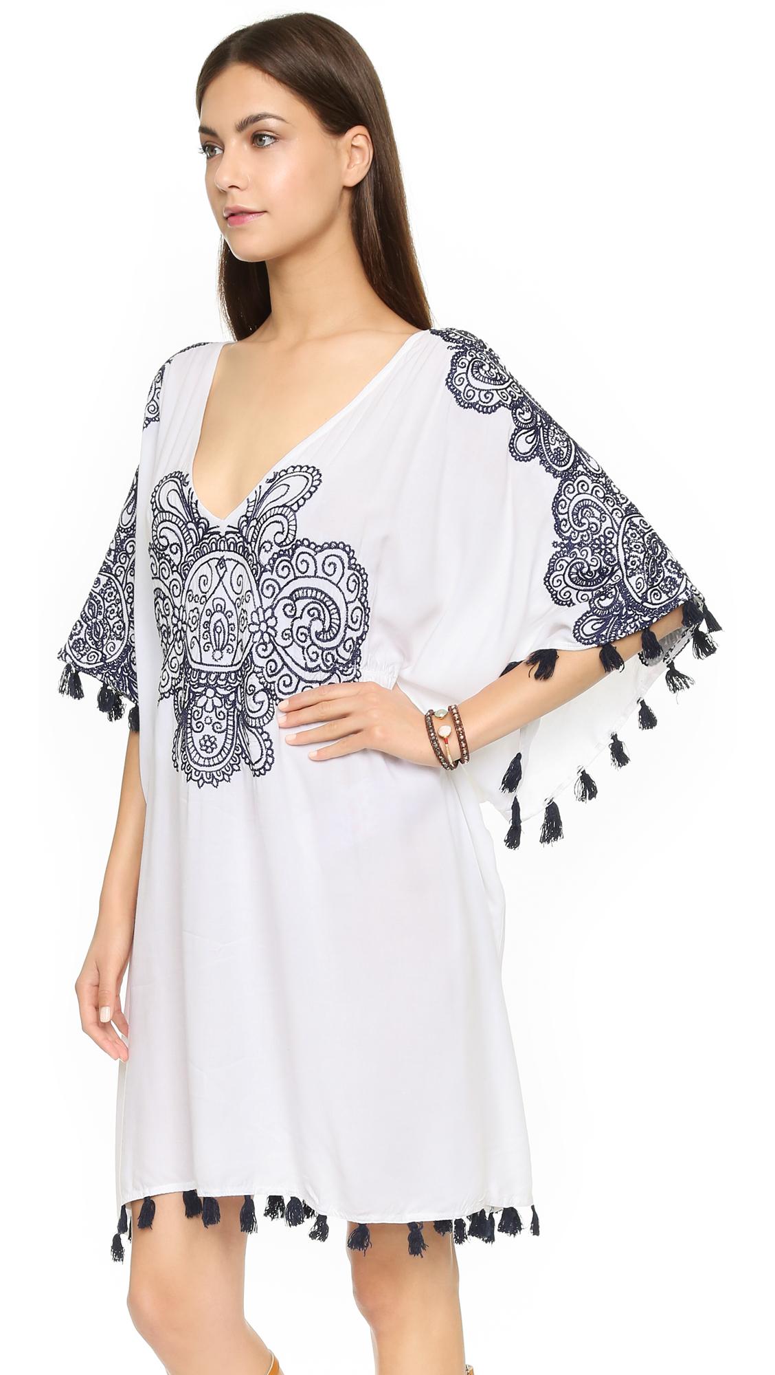 08960497ba Lyst - Nanette Lepore Henna Caftan - White in White