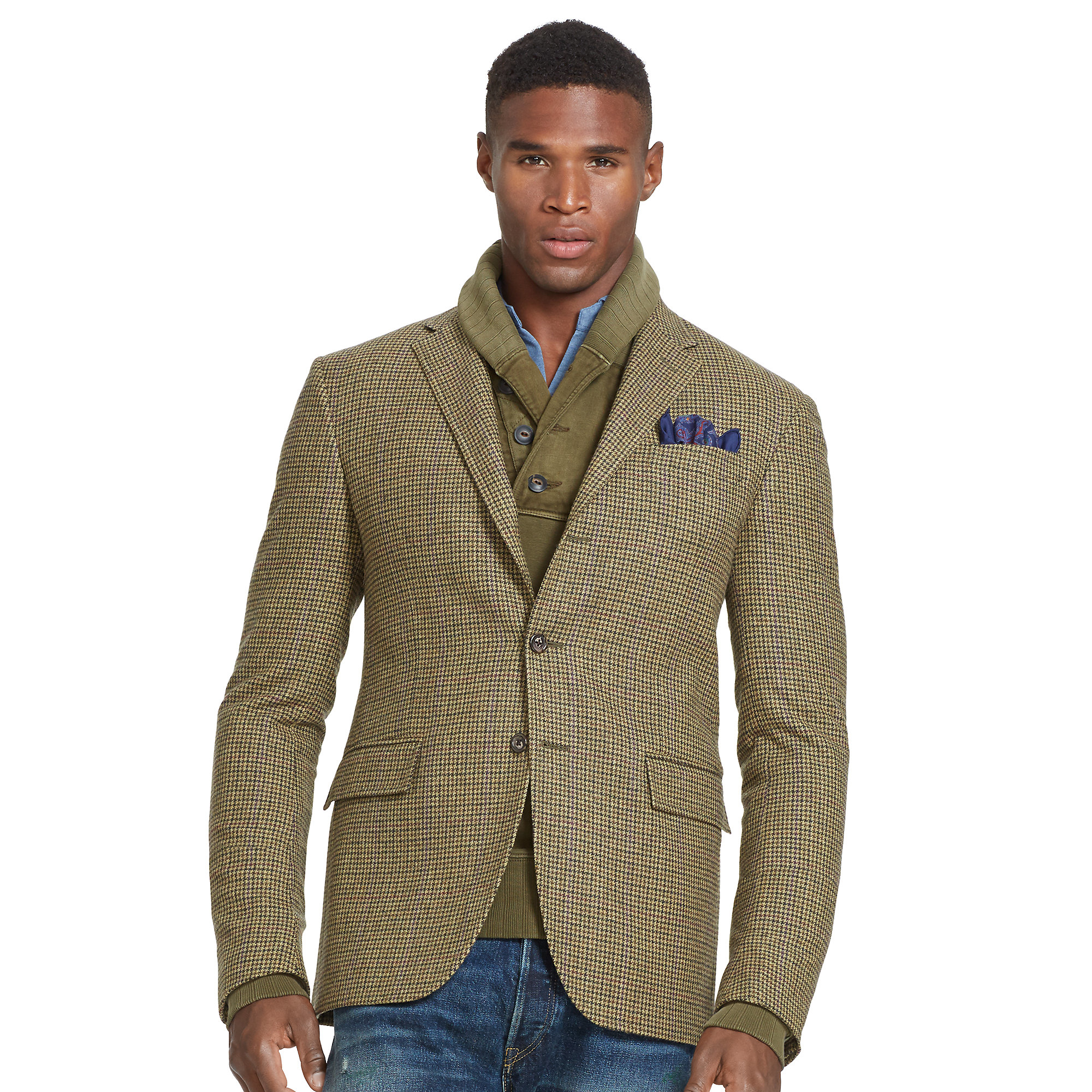 Polo Ralph Lauren Polo Houndstooth Sport Coat In Green For