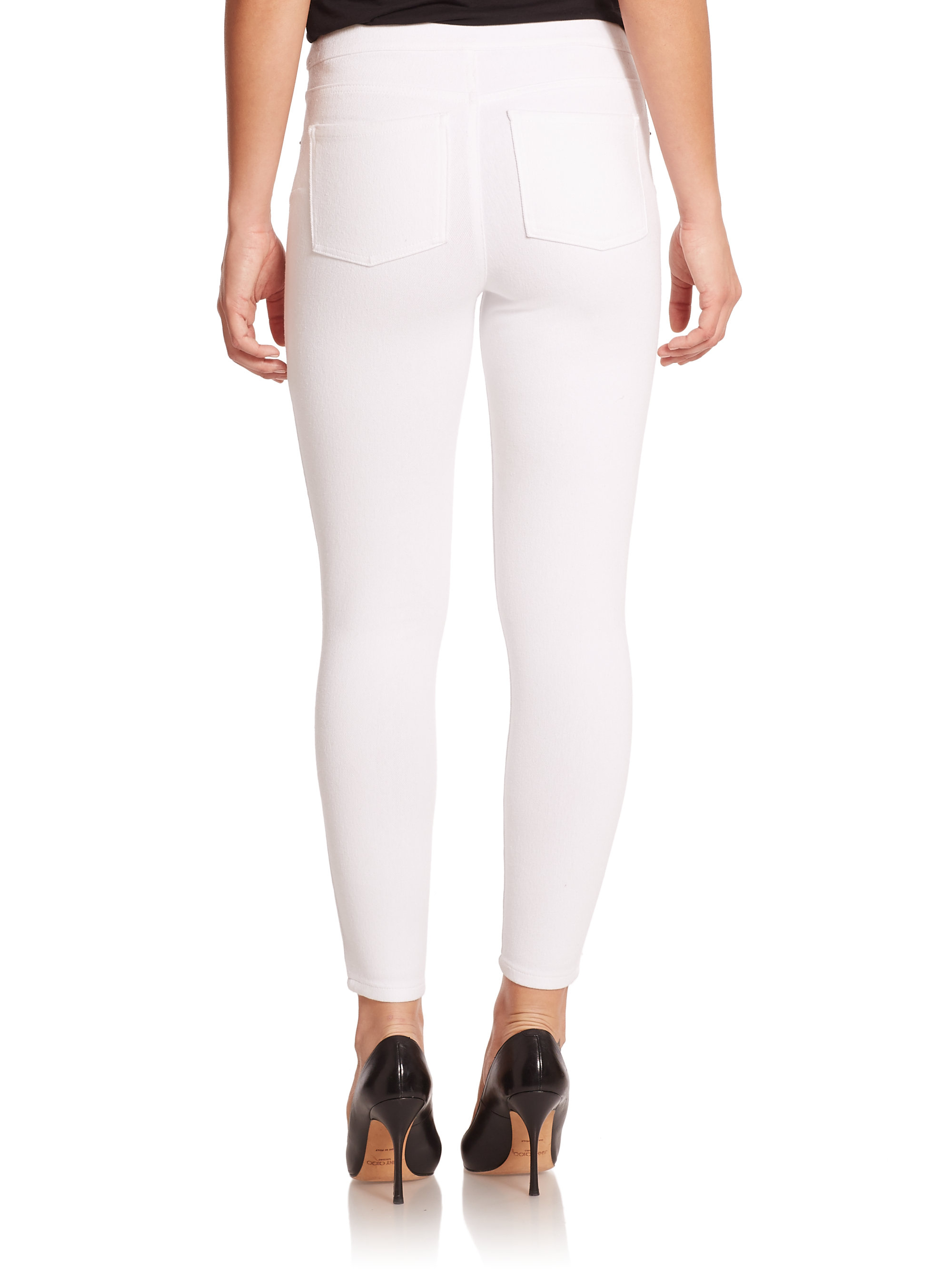 Spanx Ready-to-wow Denim Ankle Leggings in White | Lyst
