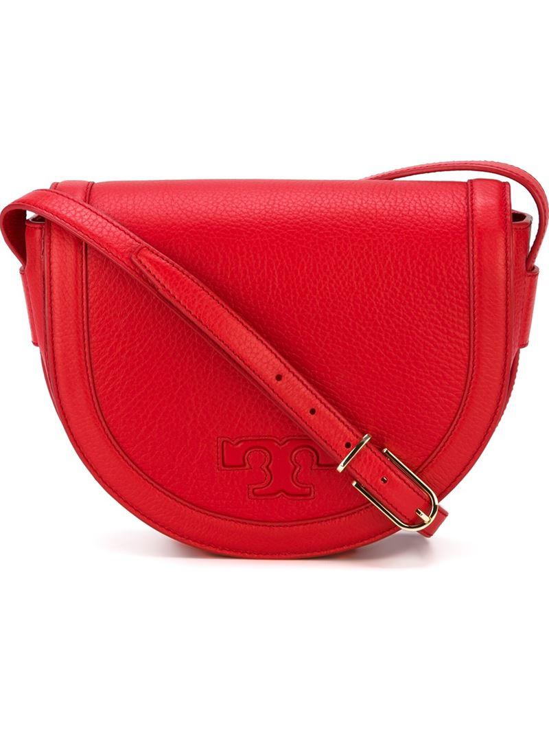 tory burch serift crossbody bag in red lyst