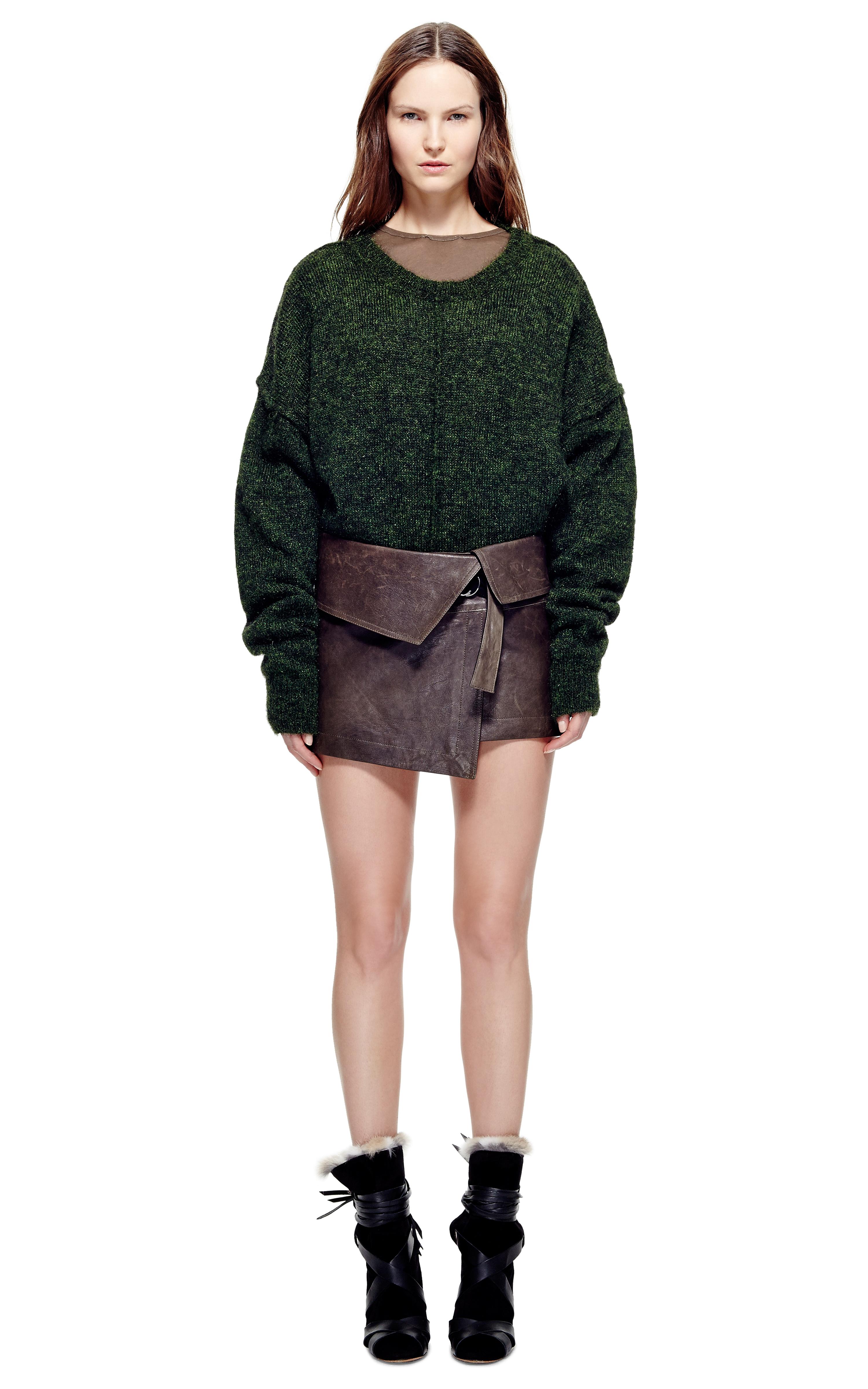 lyst isabel marant hutt skirt in brown. Black Bedroom Furniture Sets. Home Design Ideas