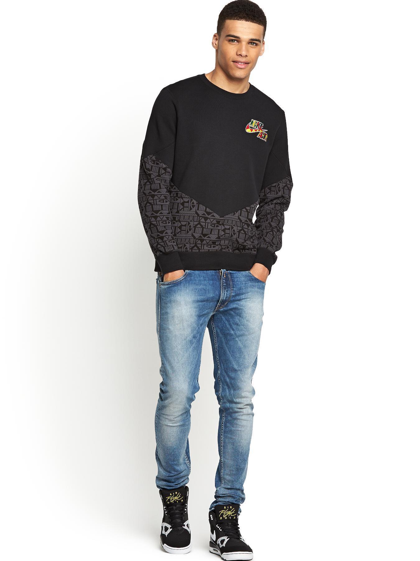 Nike Bb Pivot Mens Crew Neck Sweatshirt In Black For Men
