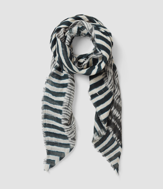 allsaints lyde scarf in blue lyst