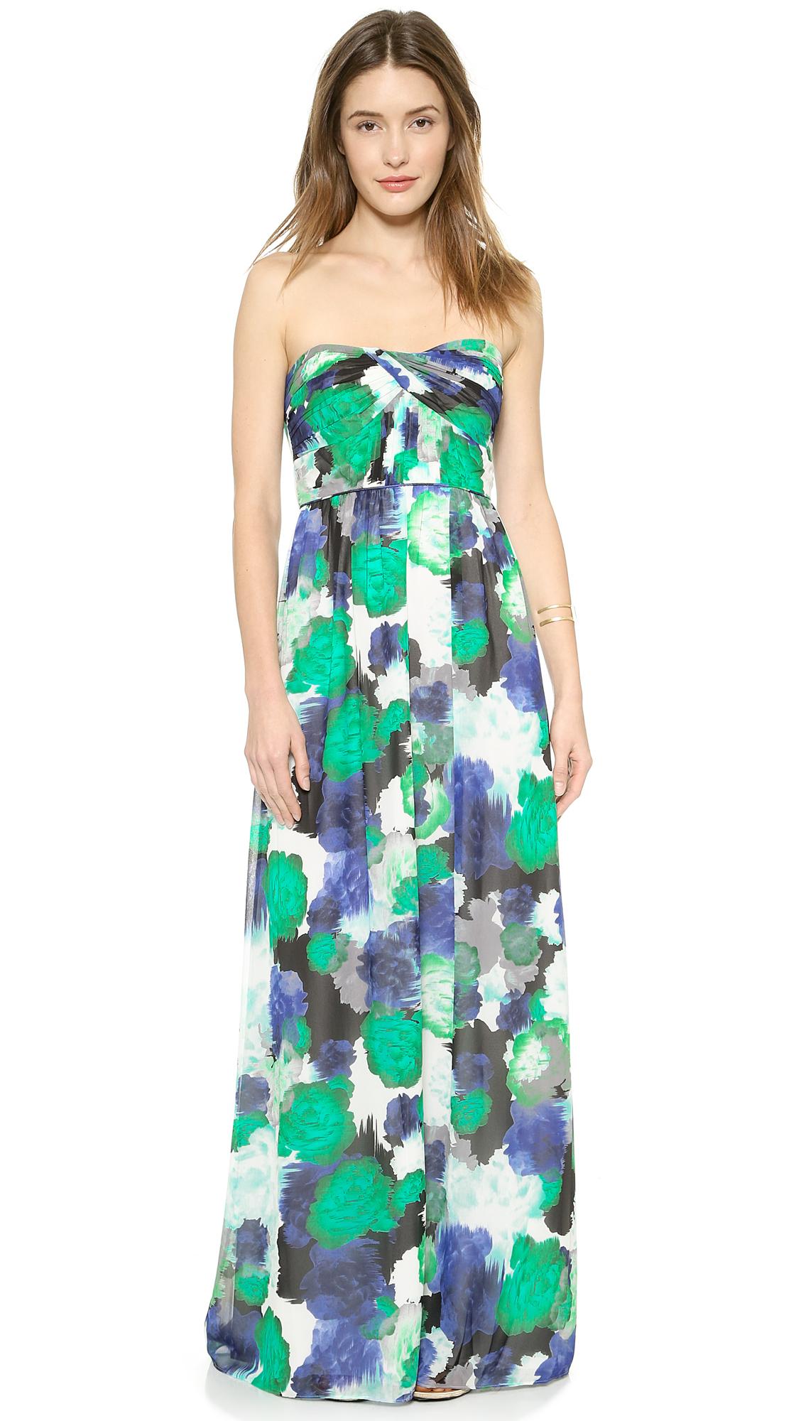 3946447935b Lyst - Shoshanna Jennifer Maxi Dress in Green
