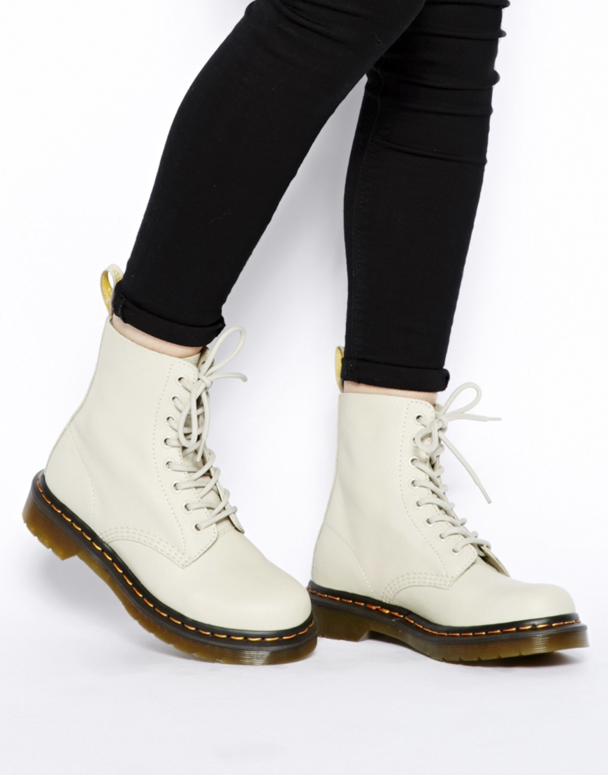 Lyst - Dr. Martens Core Pascal Ivory 8eye Boots in White 25177bb73
