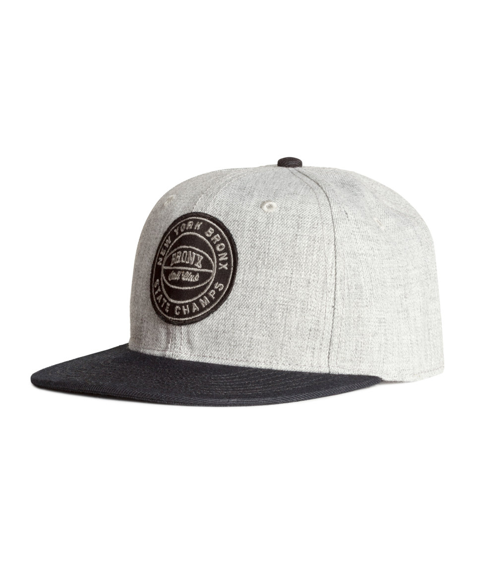 763b3d332c3 Lyst - H M Cap With Appliqué in Gray for Men