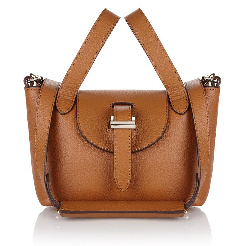 lyst meli melo thela micro mini bag tan in brown. Black Bedroom Furniture Sets. Home Design Ideas