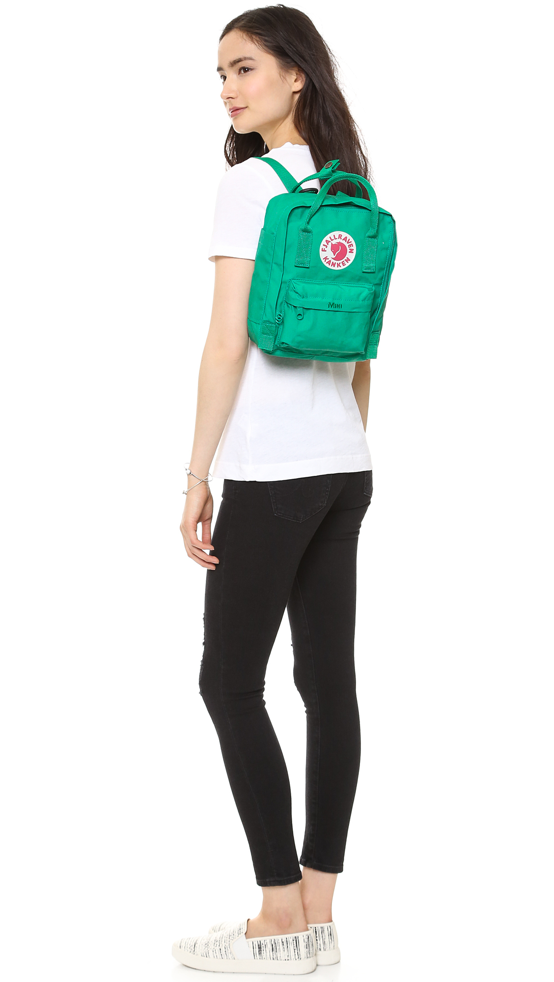 Lyst Fjallraven Kanken Mini Backpack In Green