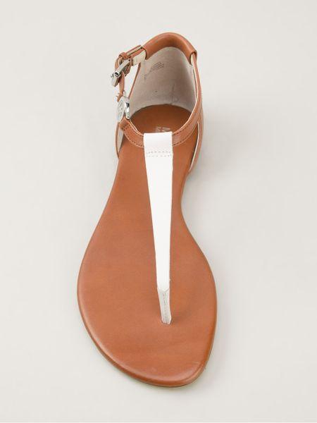 Michael Michael Kors Bridget Thong Sandals In Brown Lyst