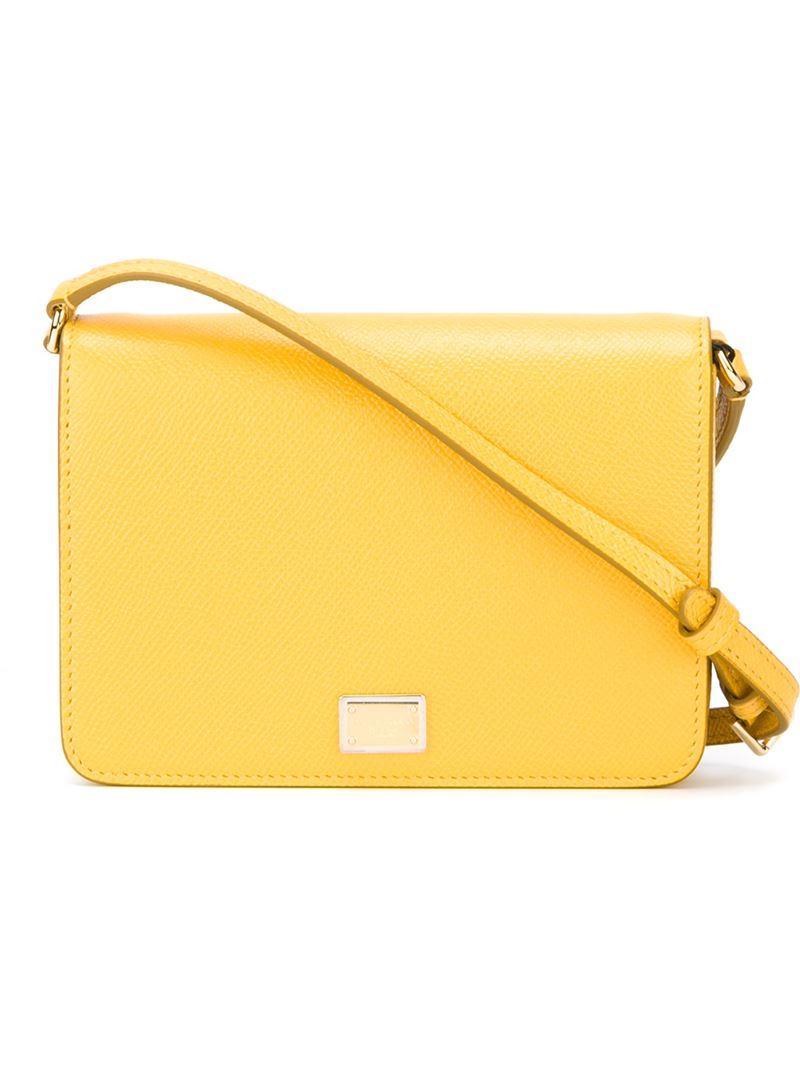 dolce gabbana glam crossbody bag in yellow lyst