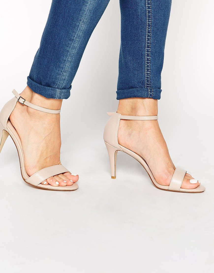 50ceadb30 Lyst - Carvela Kurt Geiger Kiwi Barely There Heeled Sandals in Natural