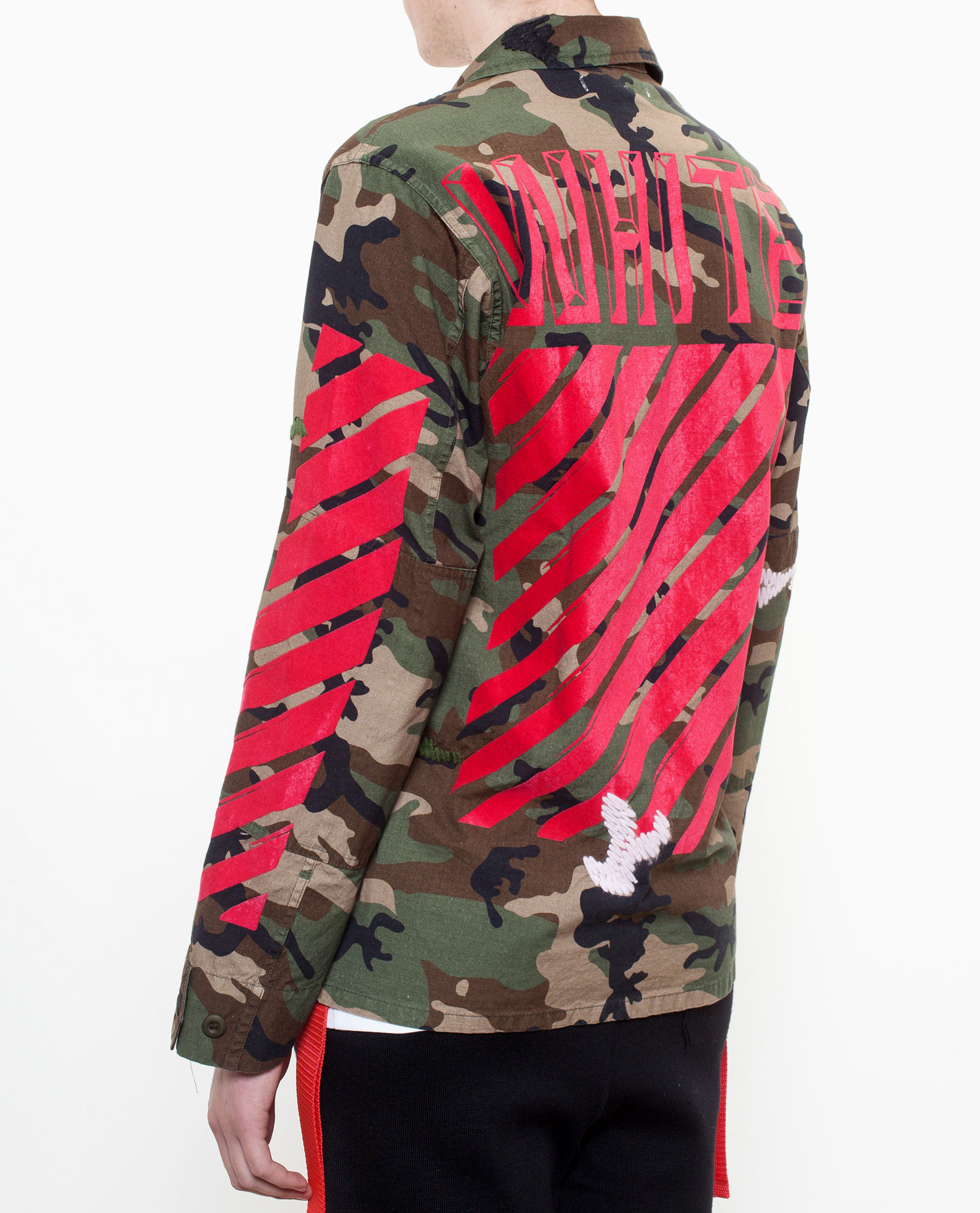 Lyst Off White Co Virgil Abloh Camouflage Sport Jacket In Green