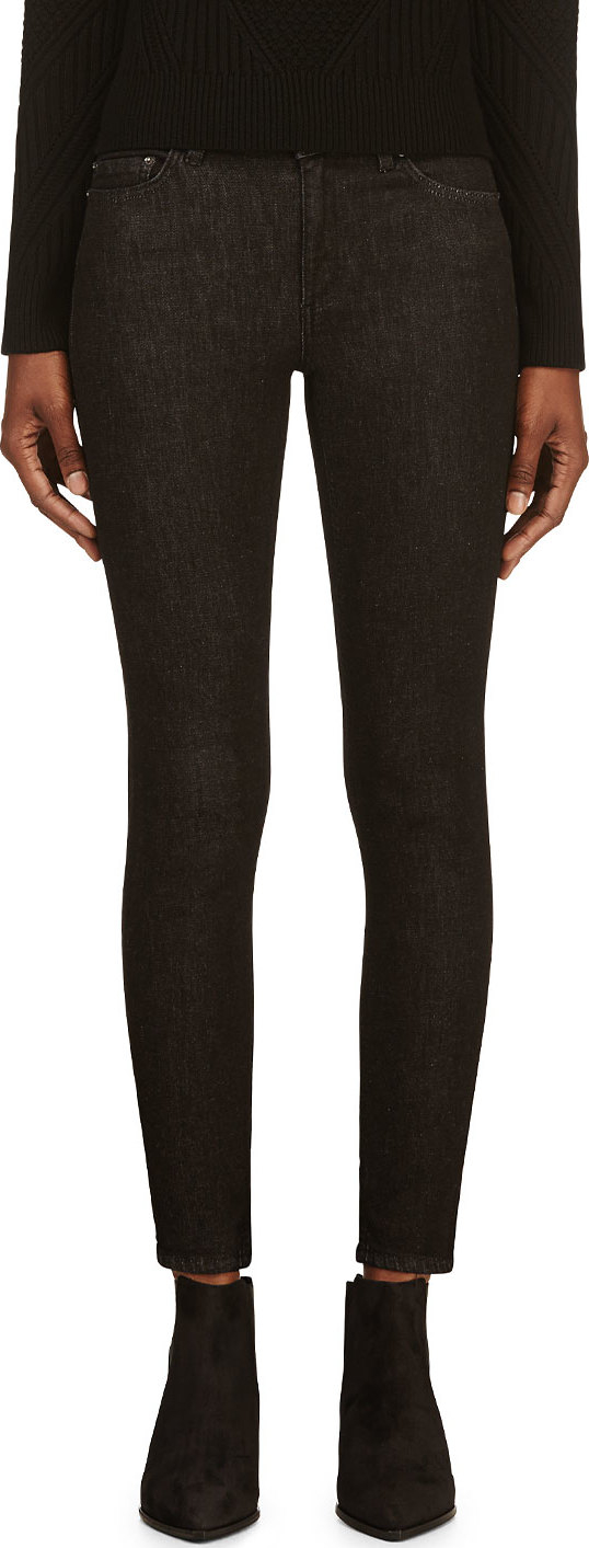 Acne Soft Black Skin 5 Jeans in Black | Lyst