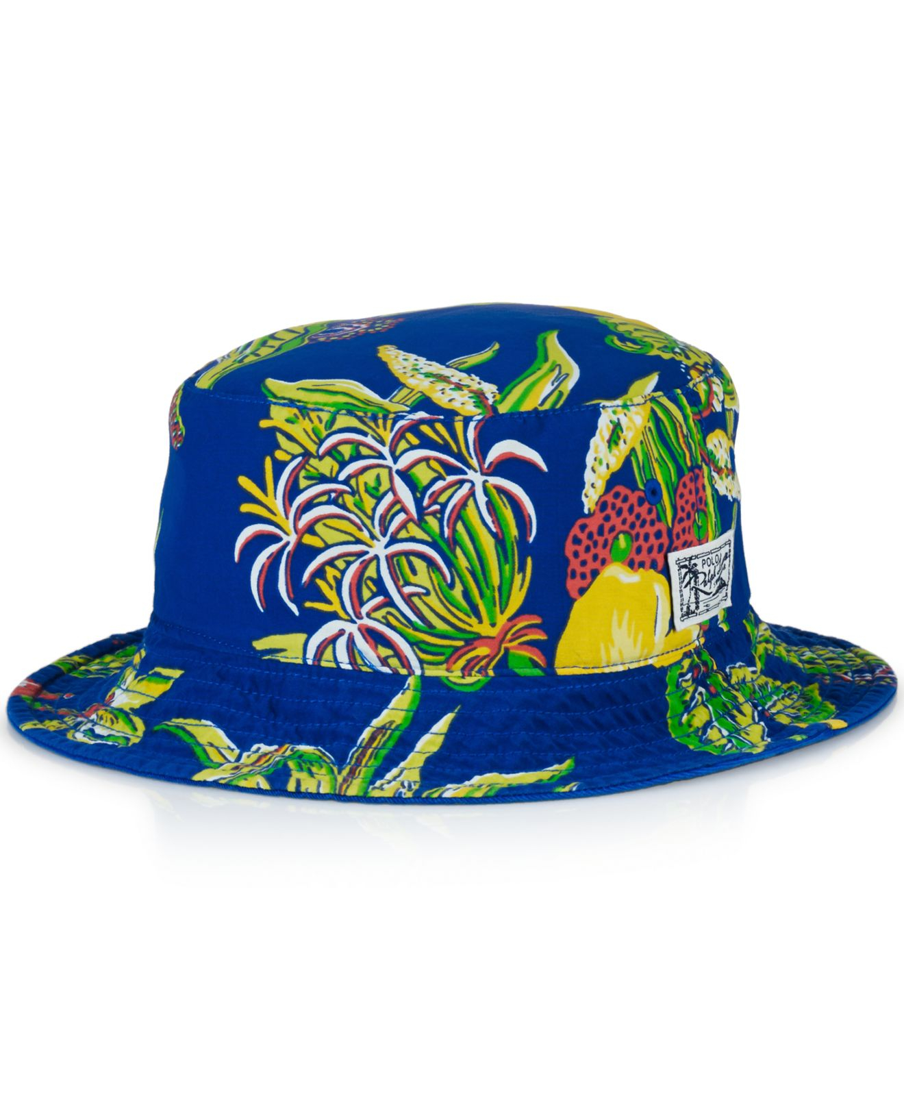 07383ea66cc Lyst - Polo Ralph Lauren Reversible Bucket Hat in Blue for Men