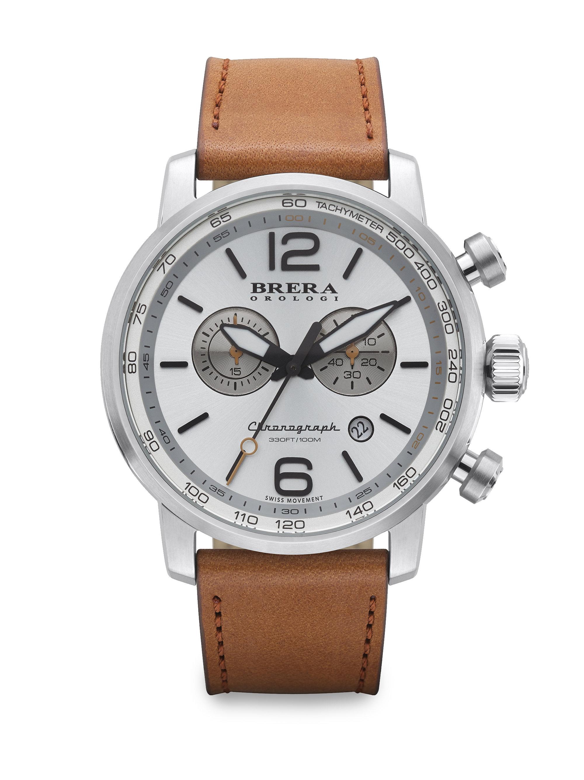 brera orologi dinamico chronograph in brown for