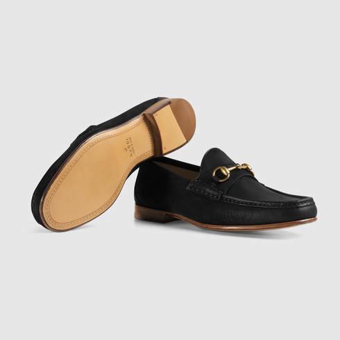 df56fbf22a3 Lyst - Gucci 1953 Horsebit Suede Loafer in Black for Men