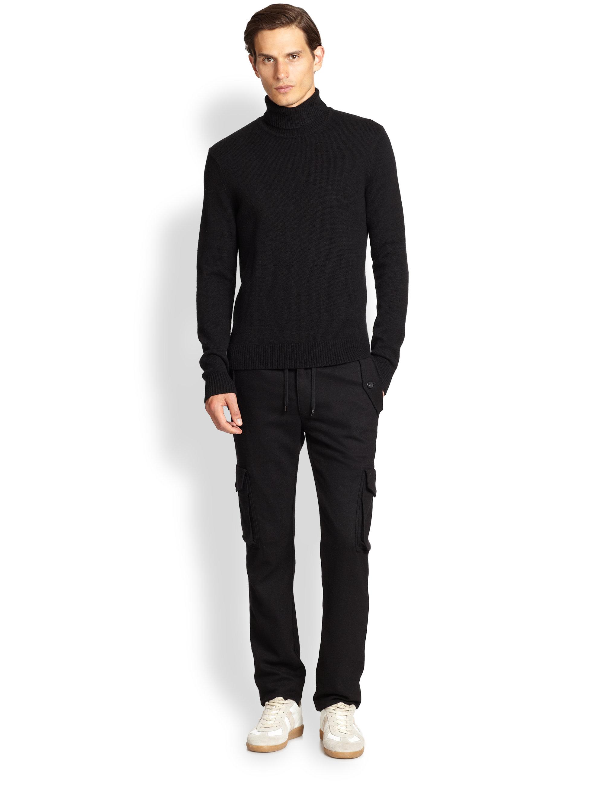Lyst Michael Kors Cashmere Turtleneck Sweater In Black For Men