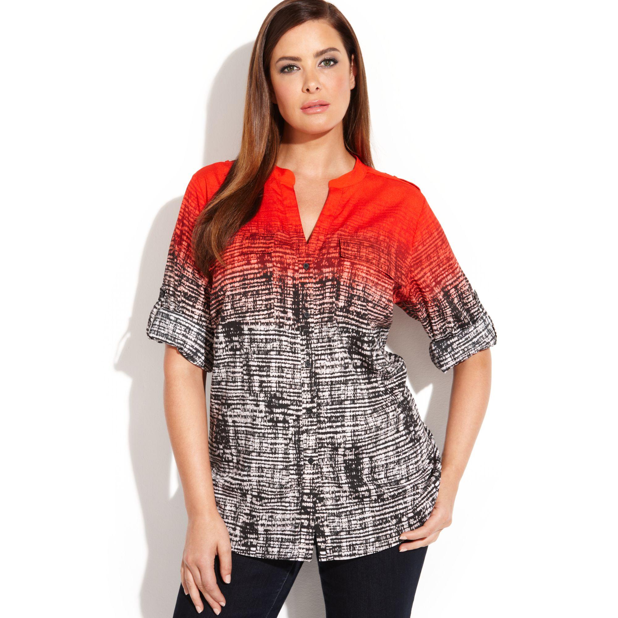 fuller figure blouses