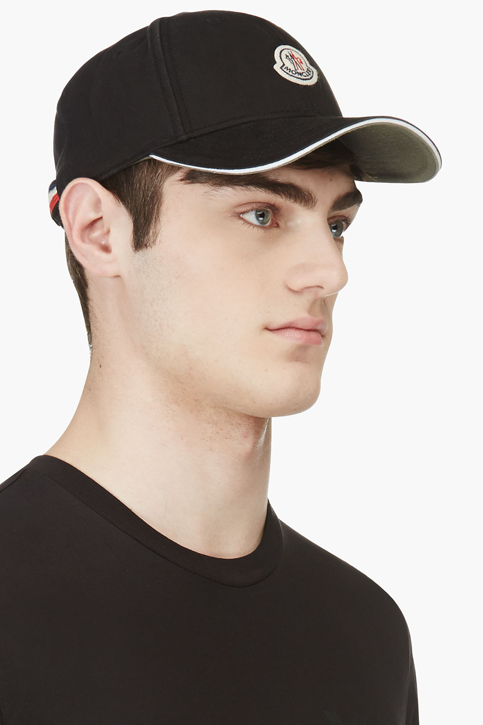 Lyst - Moncler Black Logo Baseball Cap in Black for Men aed26c6999b5
