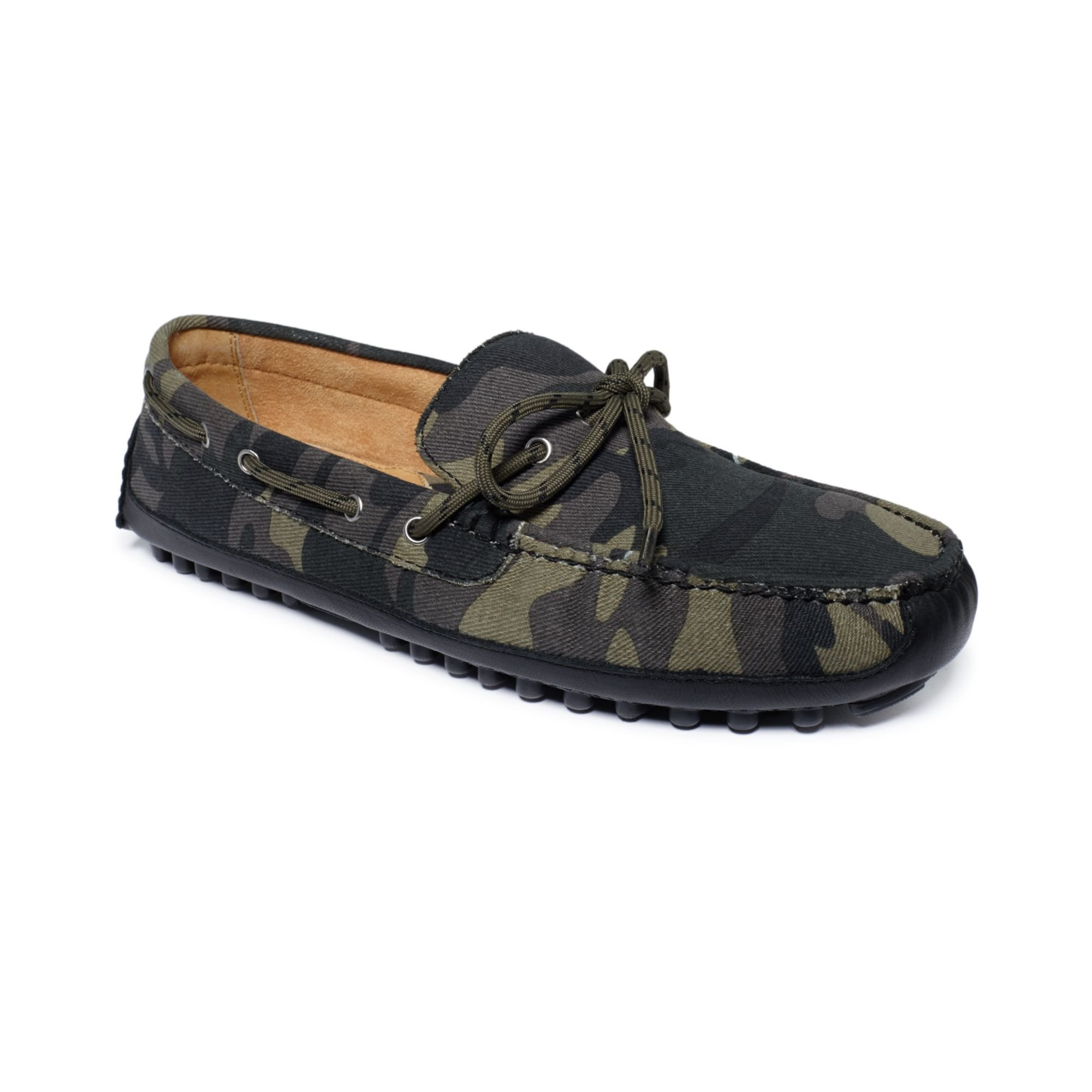 b2df46a81a1 Lyst - Cole Haan Grant Canoe Camp Drivers in Green for Men