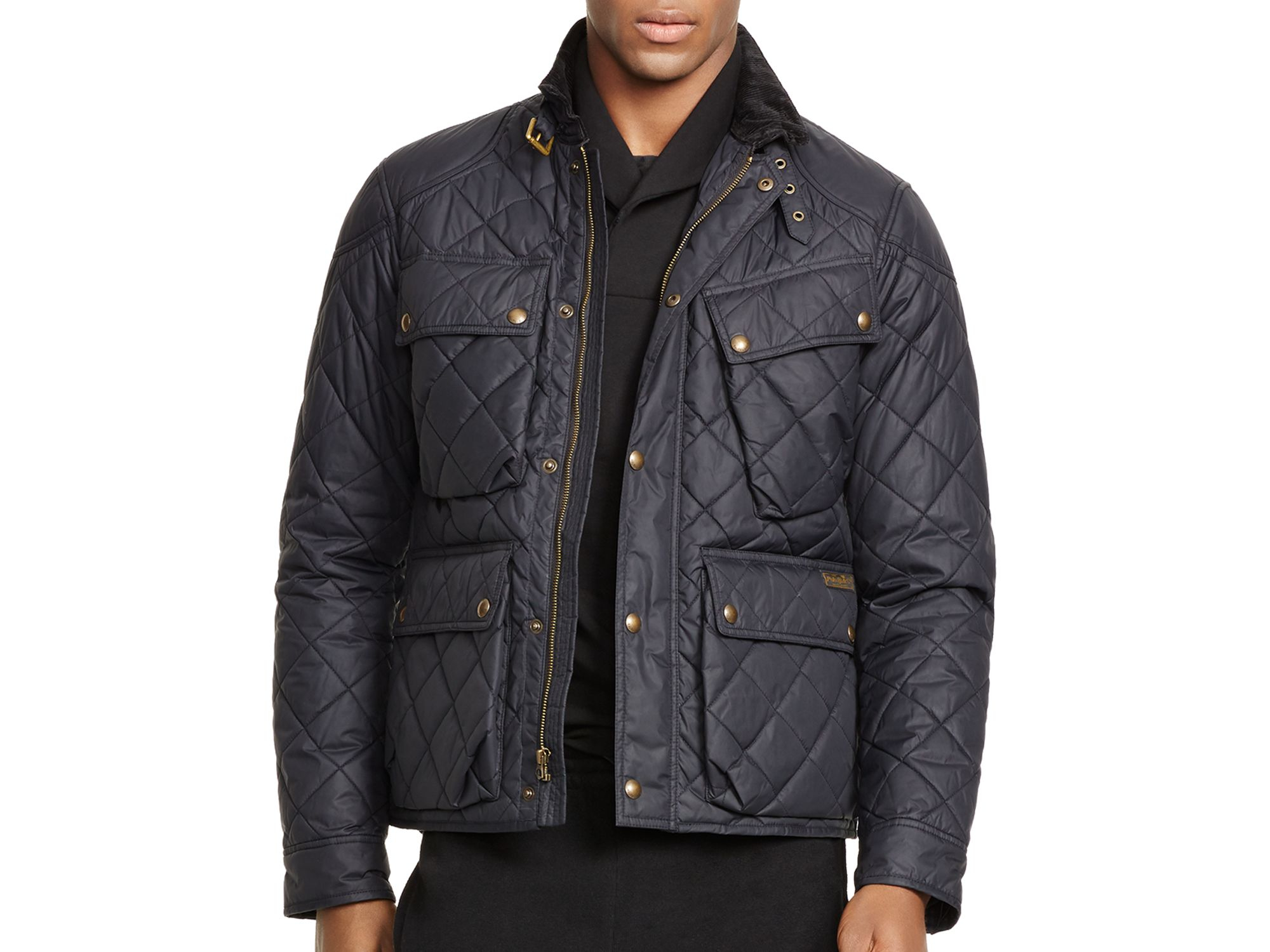 Ralph lauren Polo Quilted Bike Jacket in Black for Men | Lyst : ralph lauren jacket quilted - Adamdwight.com