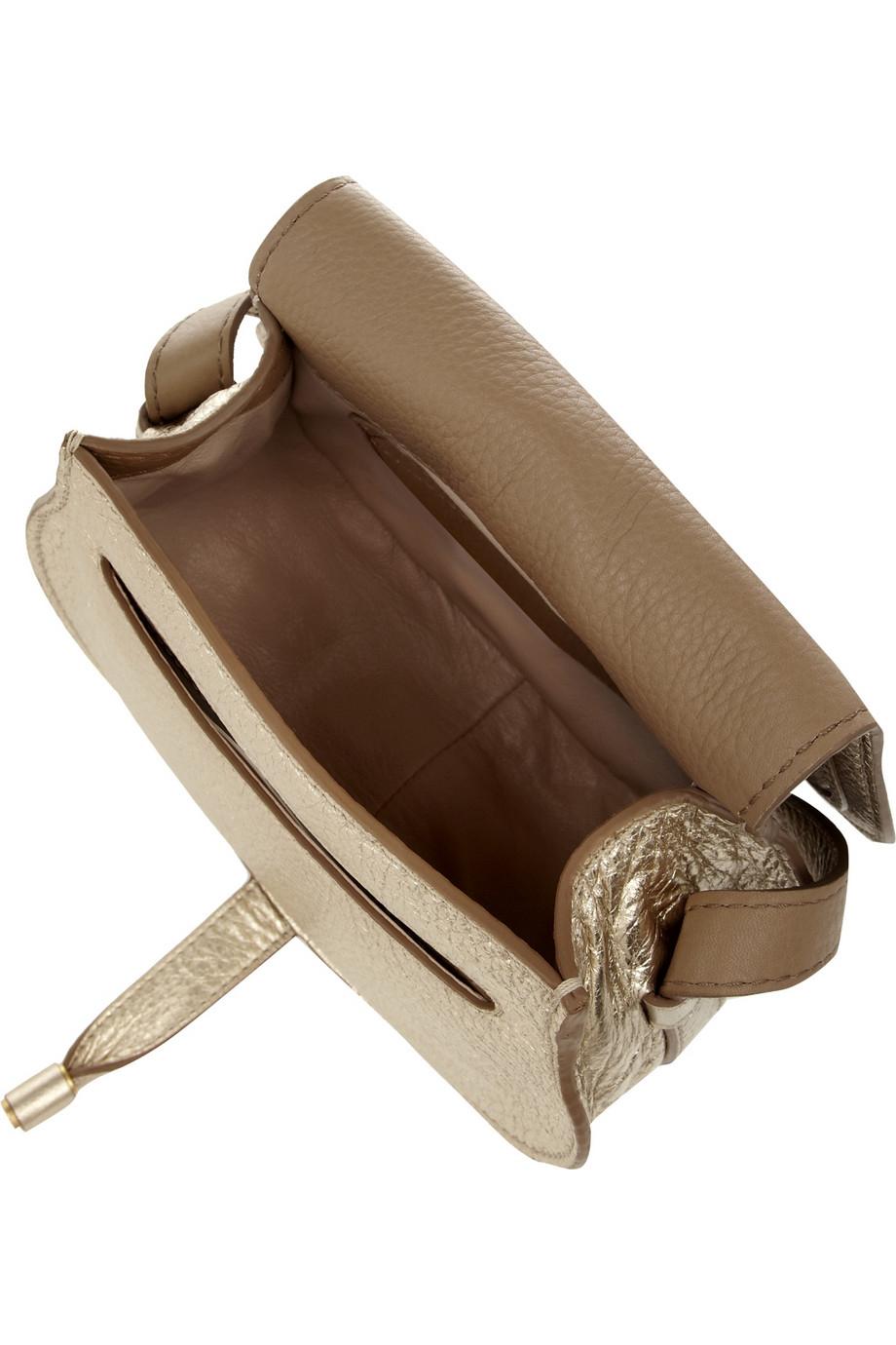 Chlo¨¦ The Marcie Mini Metallic Texturedleather Shoulder Bag in ...