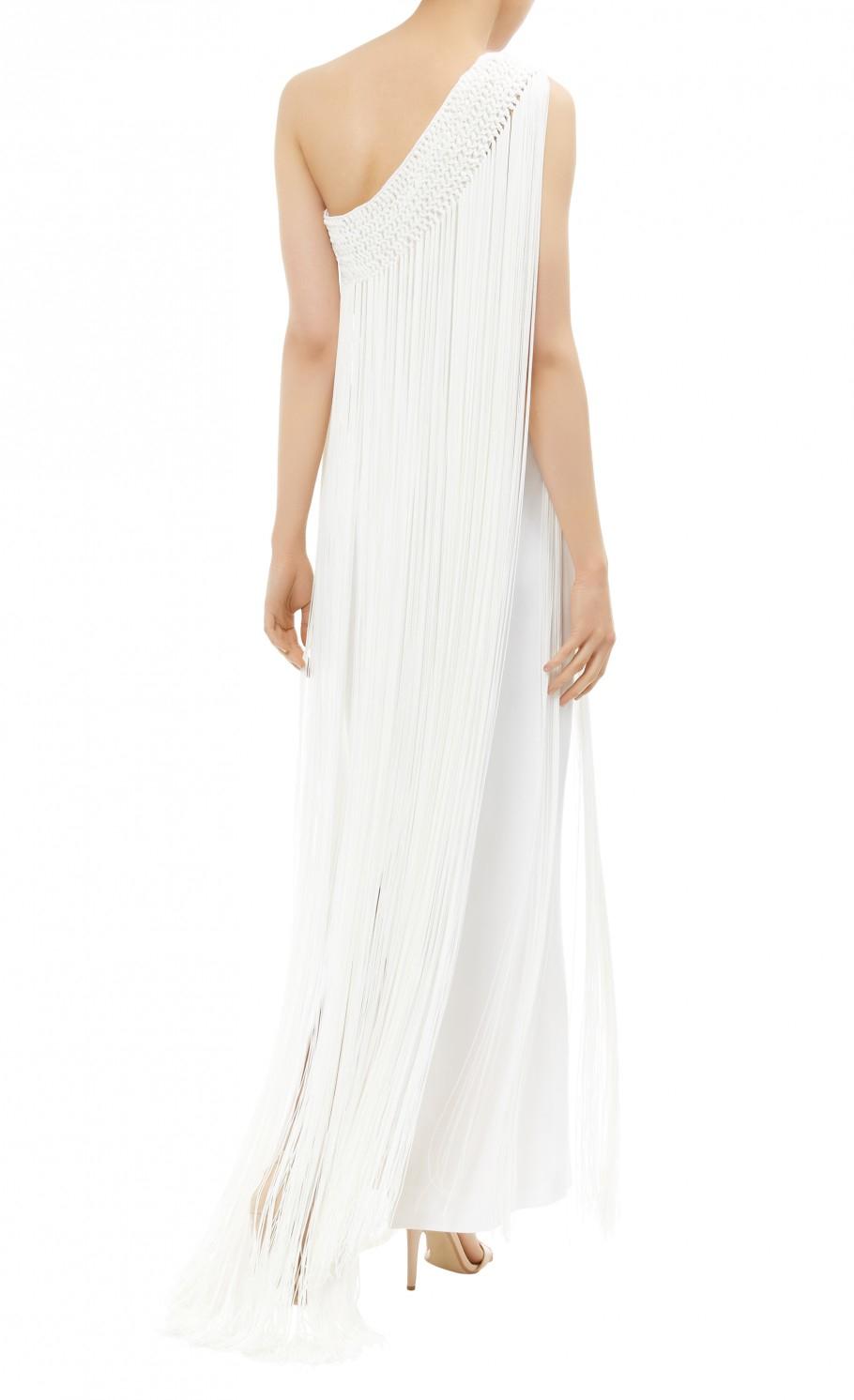 Temperley London Damara Fringed Silk Dress In White Lyst