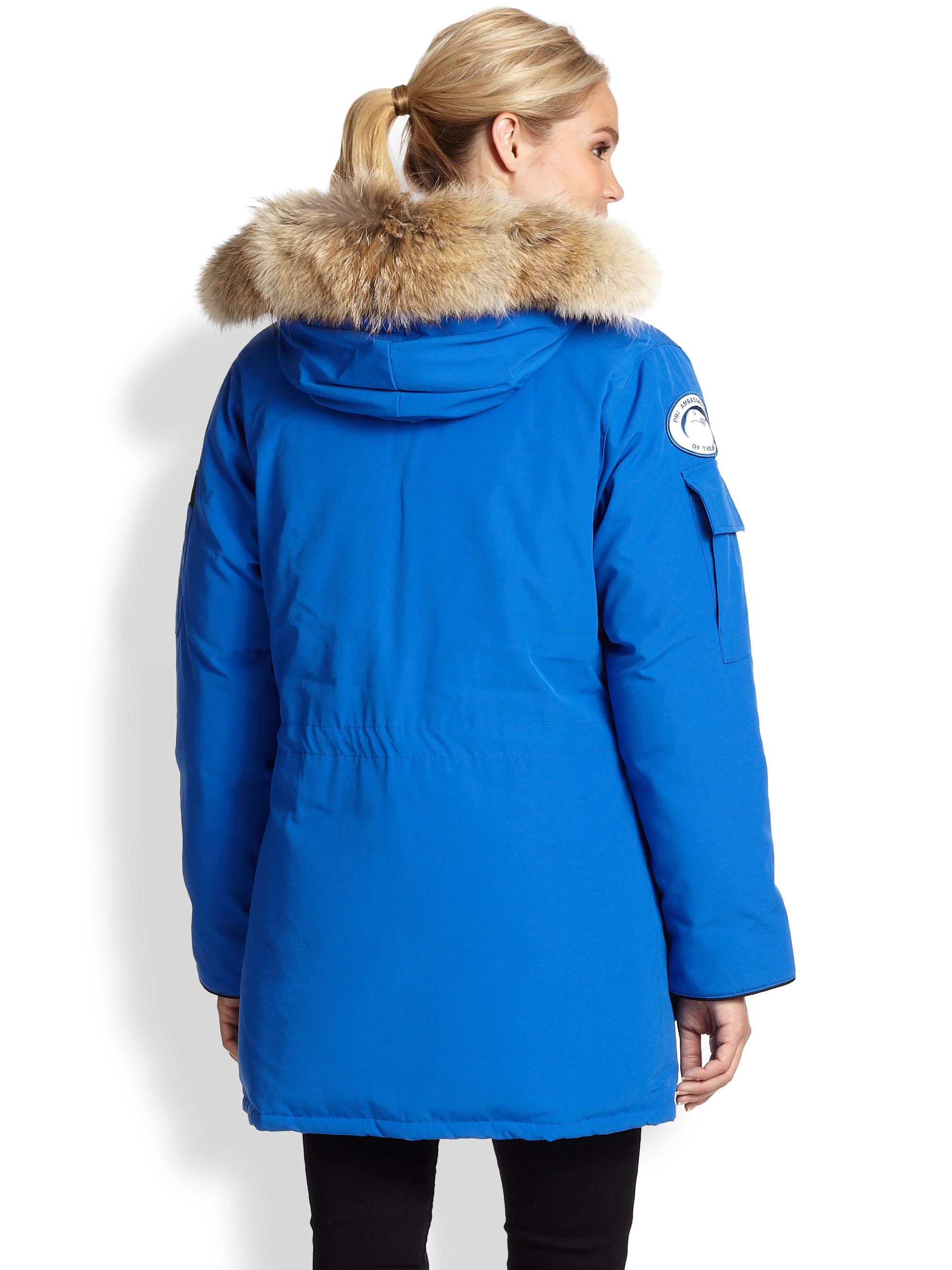 Canada Goose' Women's Expedition Fur Trimmed Parka - Black - Size Small