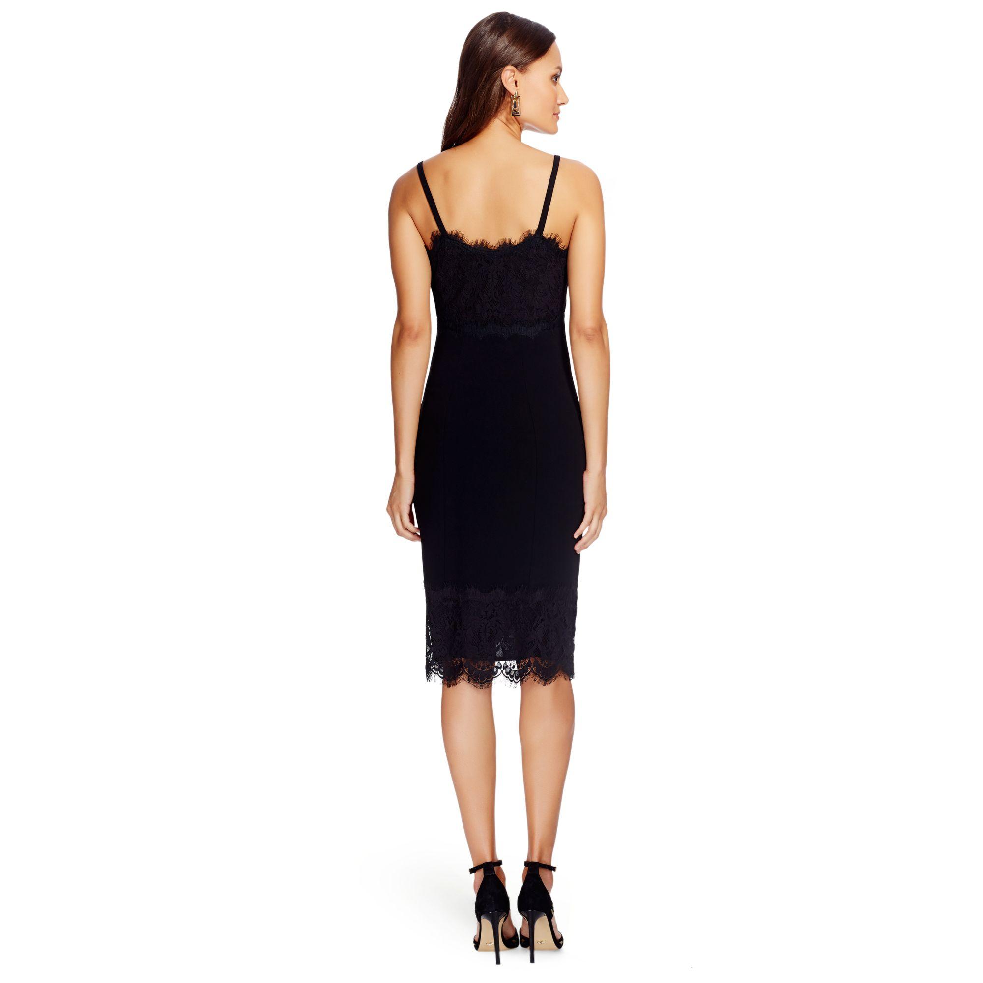 Diane von furstenberg Olivette Lace Dress in Black  Lyst