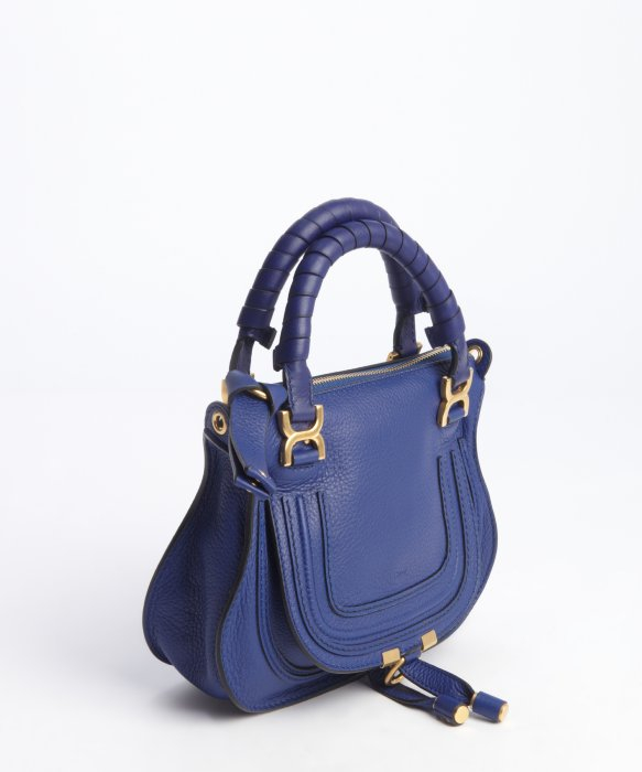 Chlo¨¦ Blue Lambskin Leather Marcie Mini Crossbody Bag in Blue | Lyst