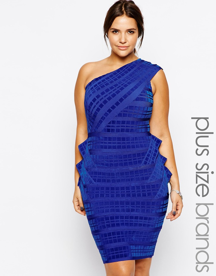 Lyst Forever Unique Plus Size Esta Bandage Dress In Blue