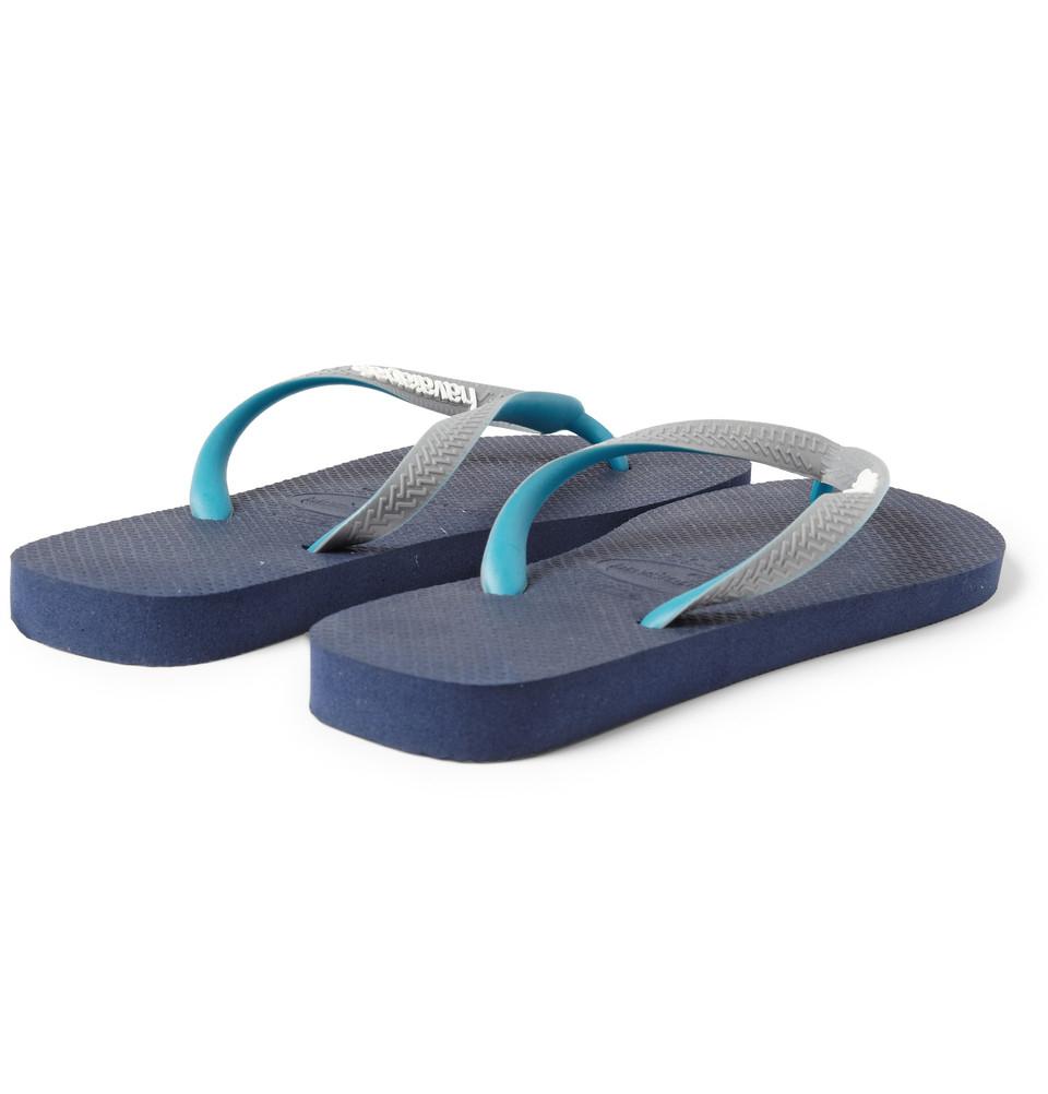Havaianas Rubber Flip Flops in Blue for Men