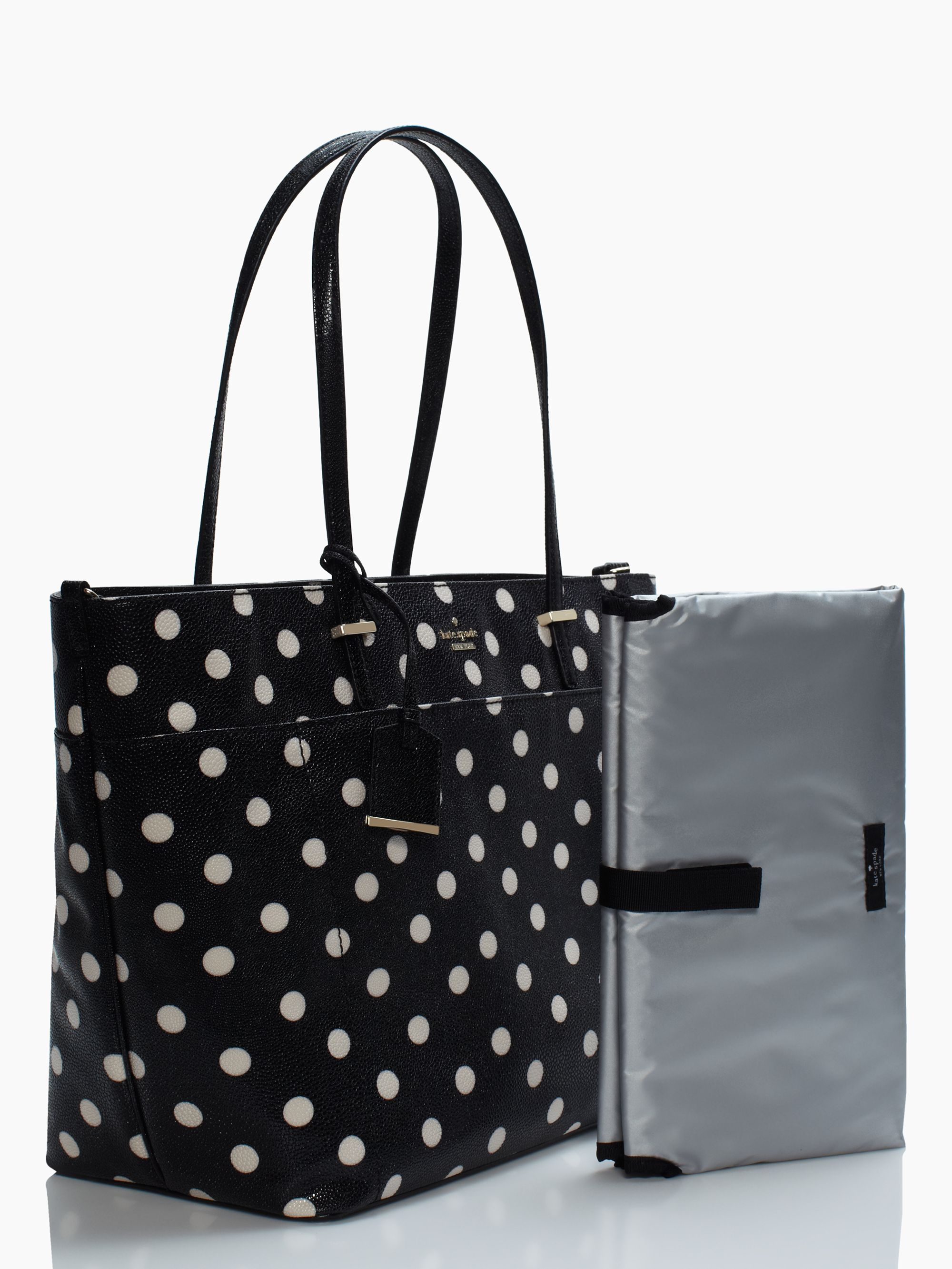6f51f6567449 Lyst - Kate Spade Cedar Street Dot Francis Baby Bag in Black