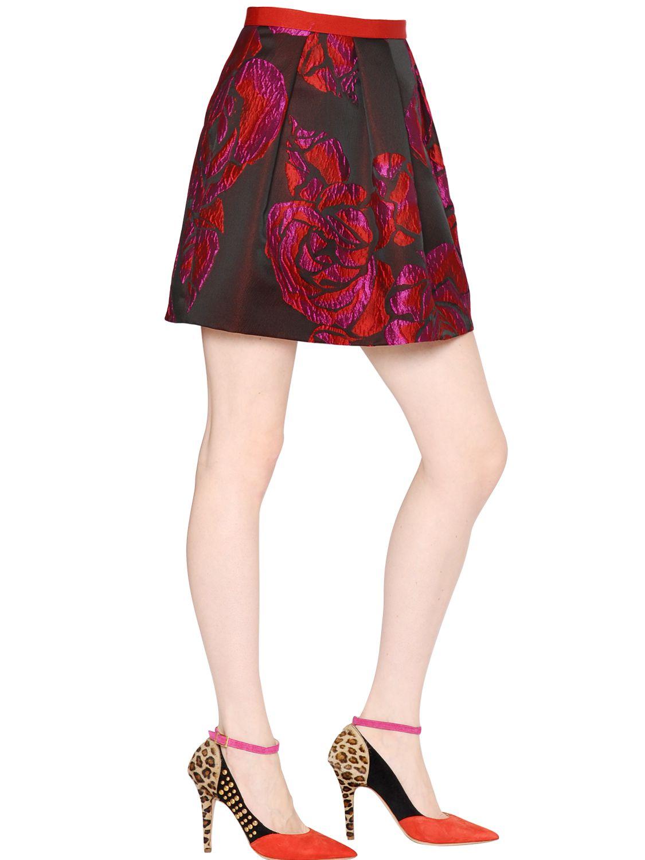 lyst blugirl blumarine floral jacquard skirt. Black Bedroom Furniture Sets. Home Design Ideas