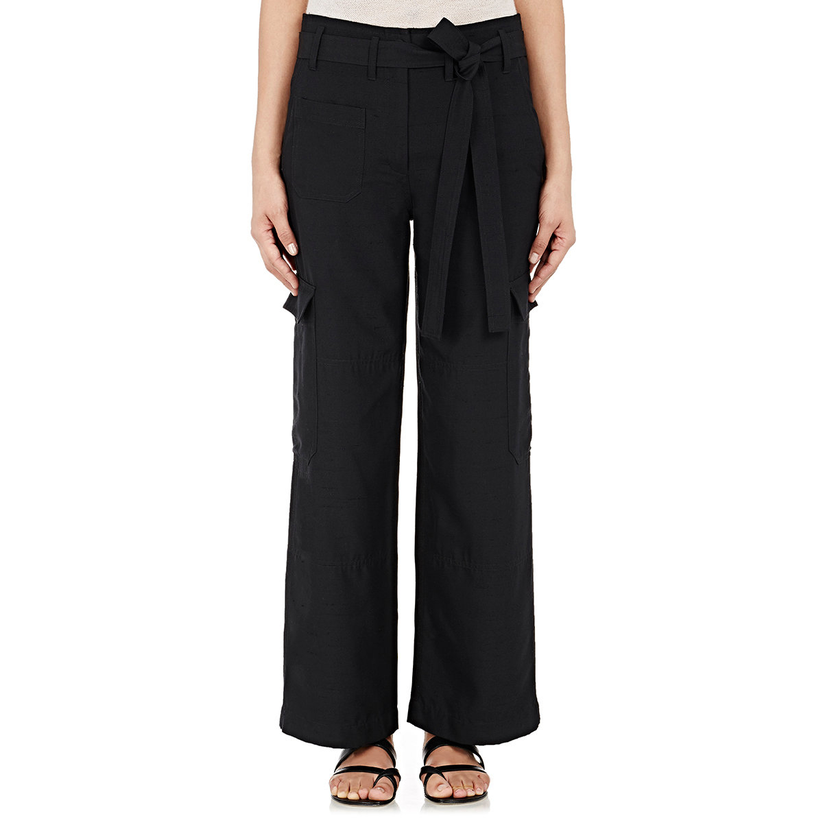 Wide Leg Cargo Pants - Pant Row